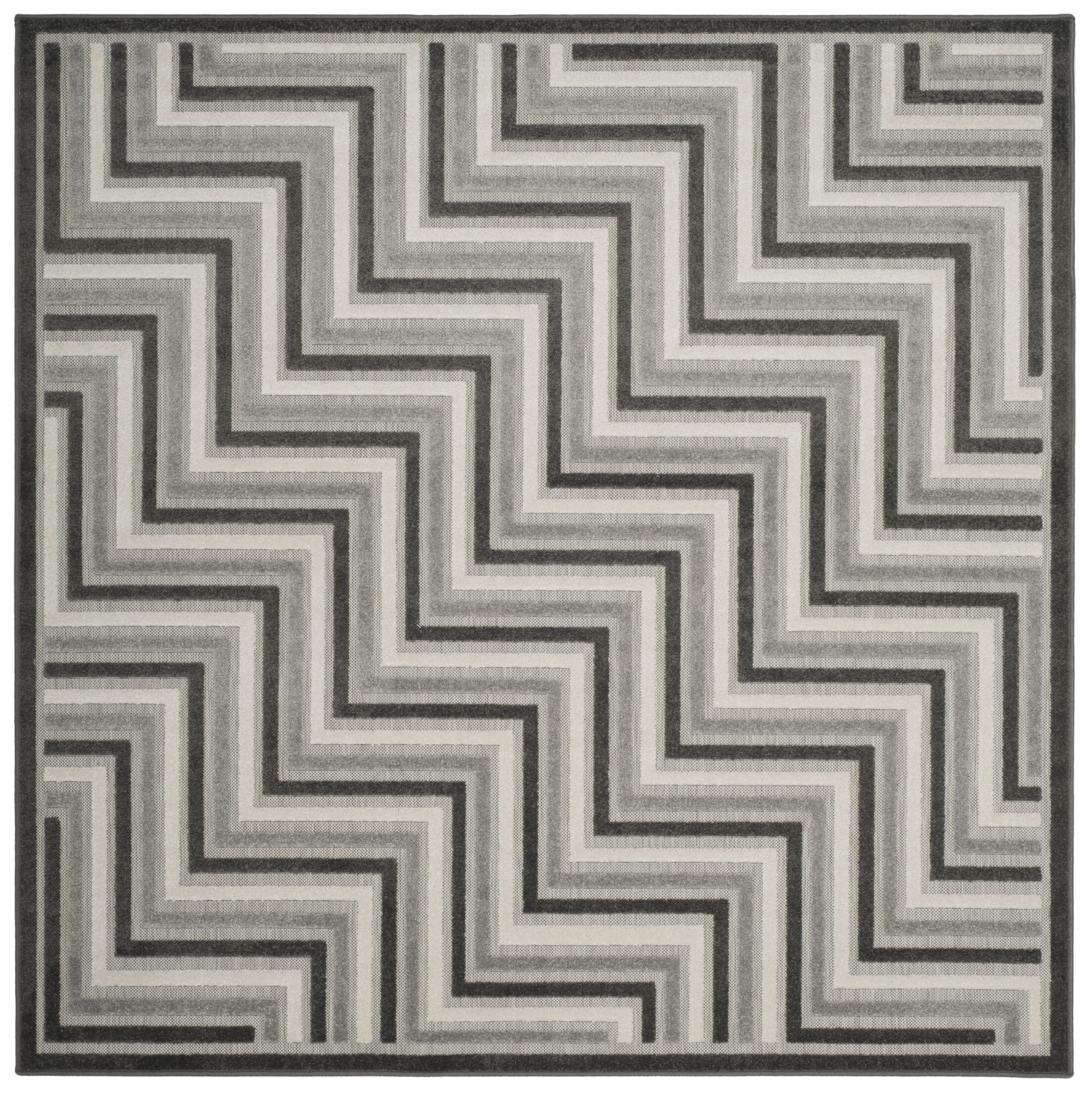 Holly Gray Outdoor Area Rug Rug Size: Square 6'7