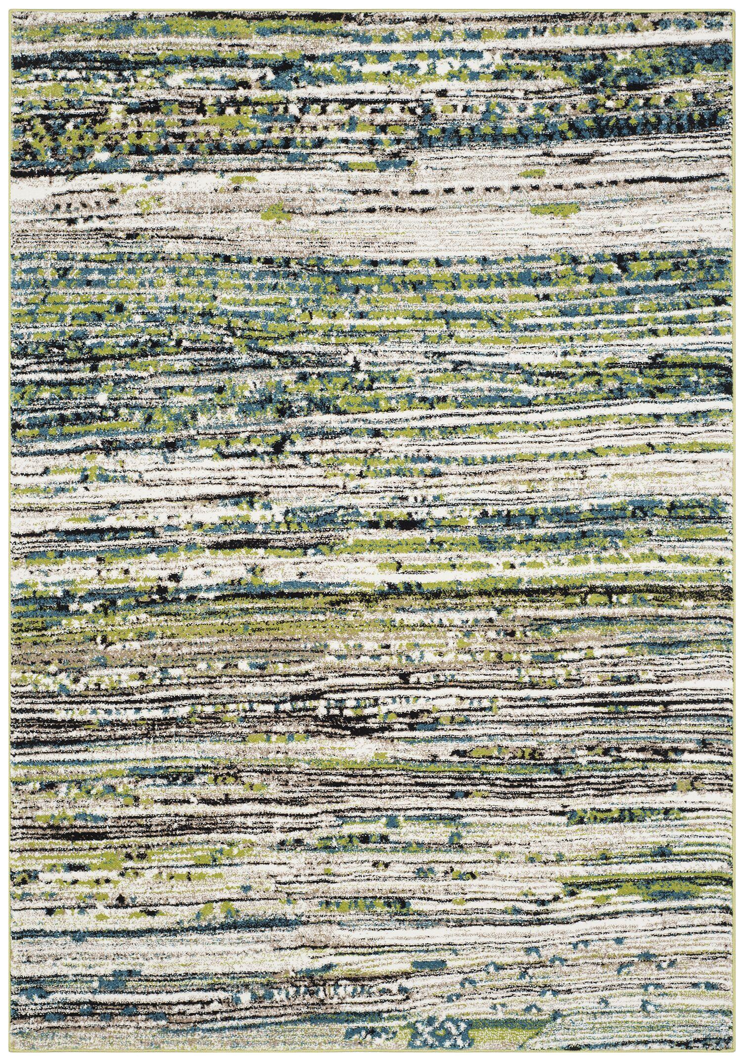 Sevastopol Cream/Green Area Rug Rug Size: Rectangle 5'3