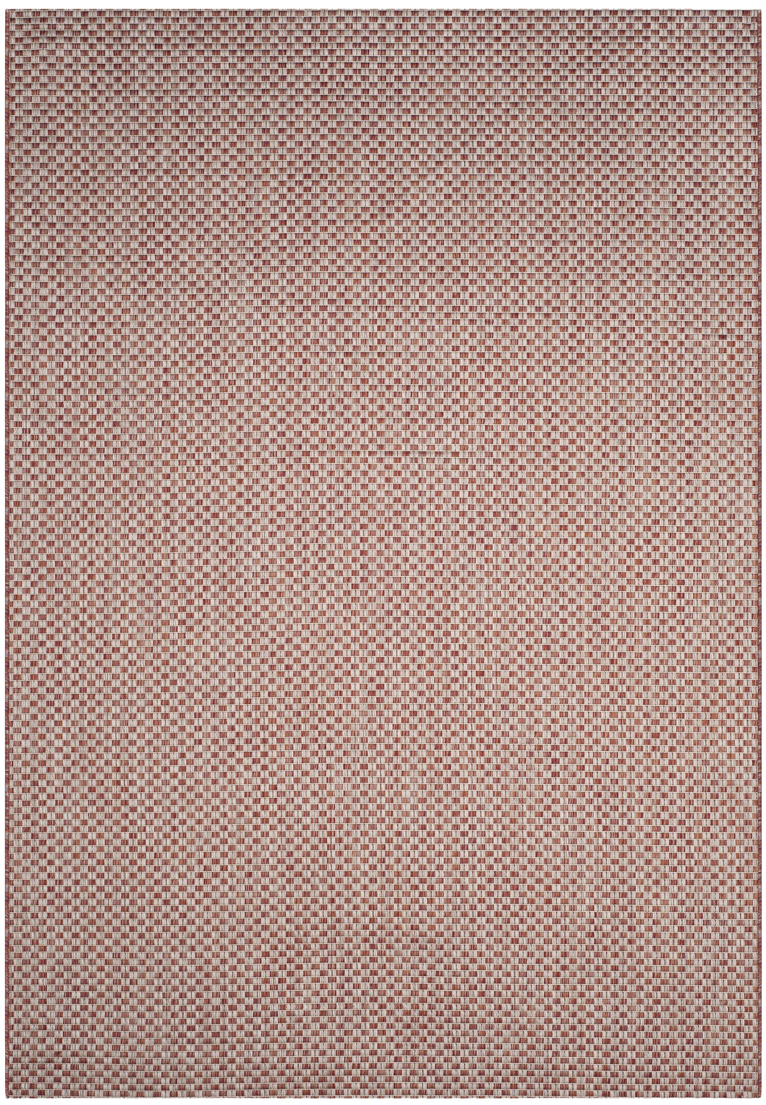 Brodie Rust/Light Gray Outdoor Area Rug Rug Size: Rectangle 6'7