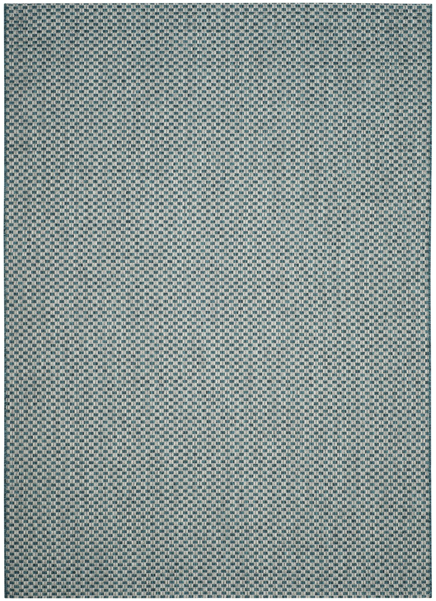 Jefferson Place Turquoise/Light Gray Outdoor Area Rug Rug Size: Rectangle 6'7