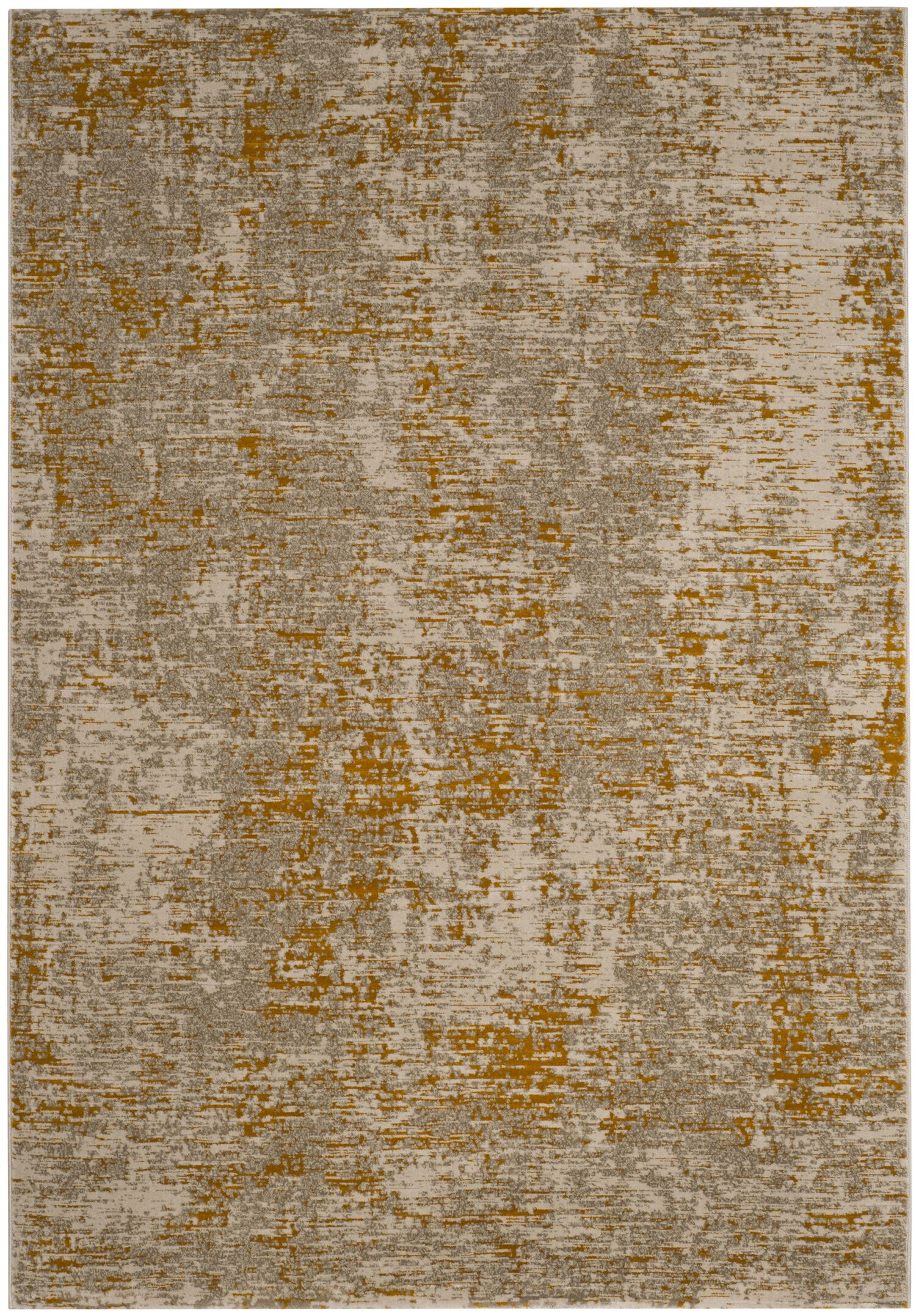 Sorrentino Gray/Orange Area Rug Rug Size: Round 6'7