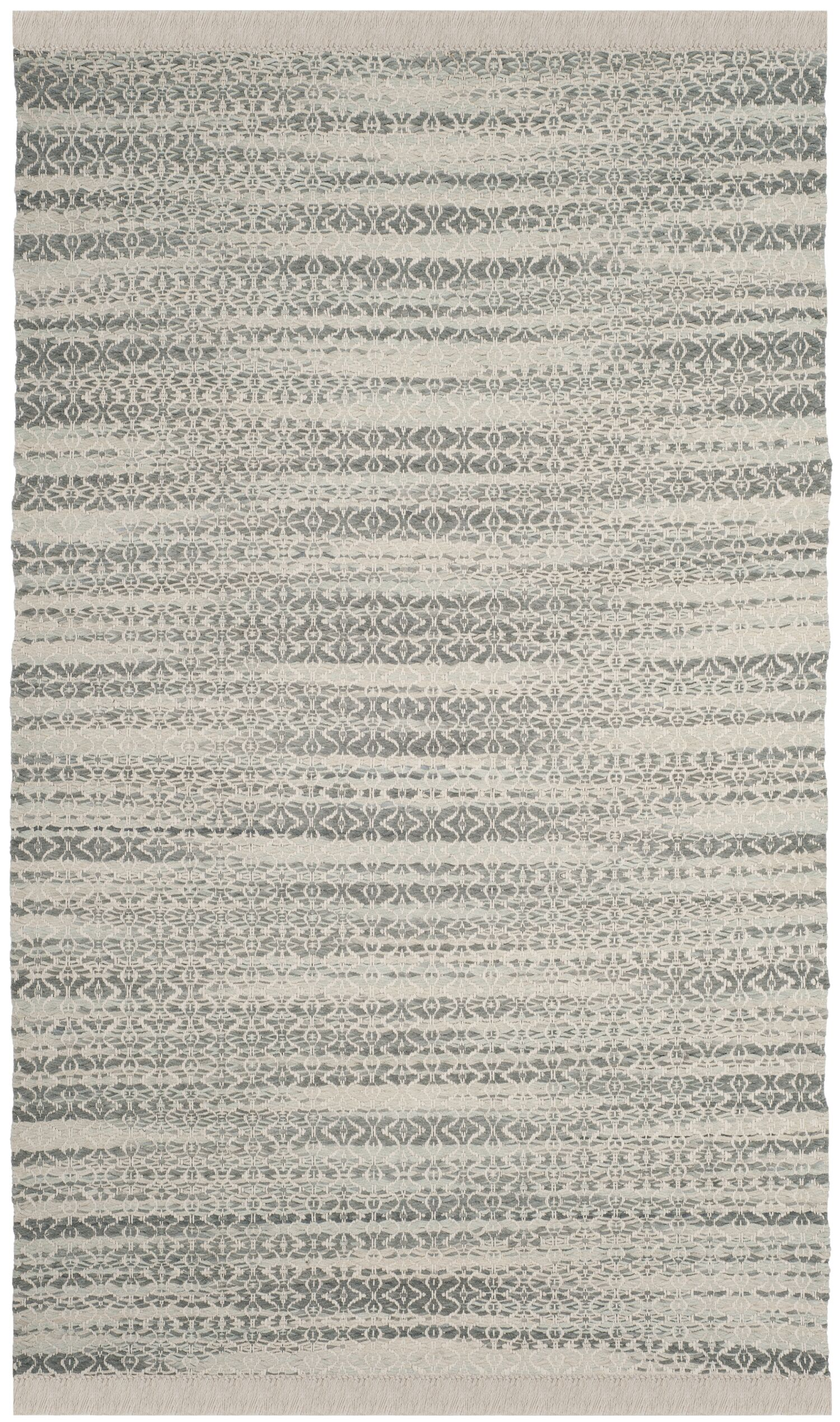 Redbrook  Hand-Tufted Gray/Ivory Area Rug Rug Size: Rectangle 5' x 8'
