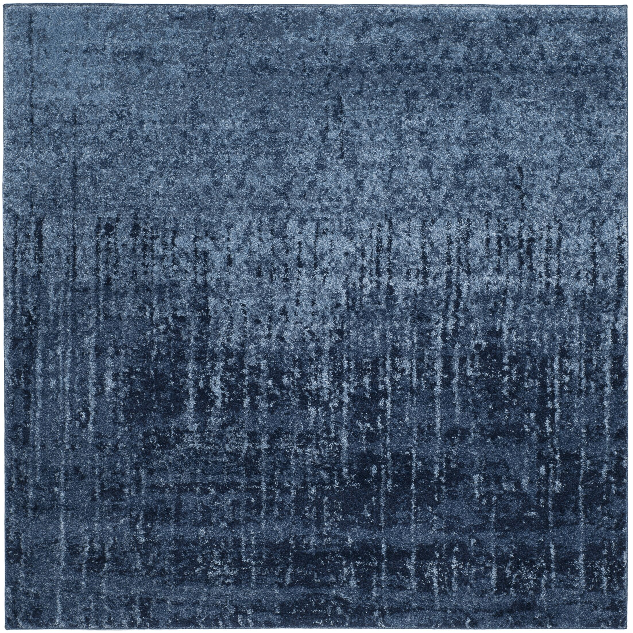 Tenth Avenue Light Blue / Blue Area Rug Rug Size: Square 8' x 8'