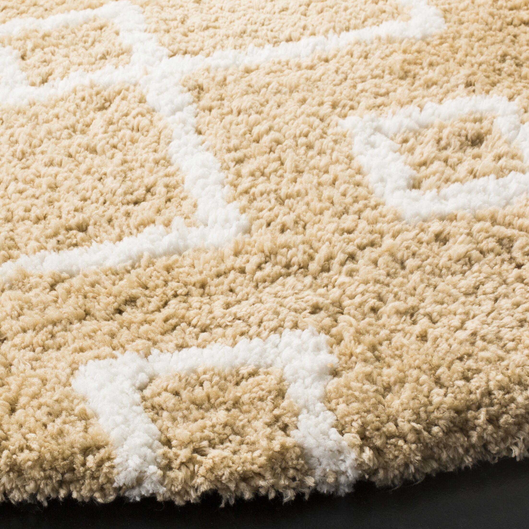 Shead Hand-Tufted Beige/Ivory Area Rug Rug Size: Rectangle 3' x 5'