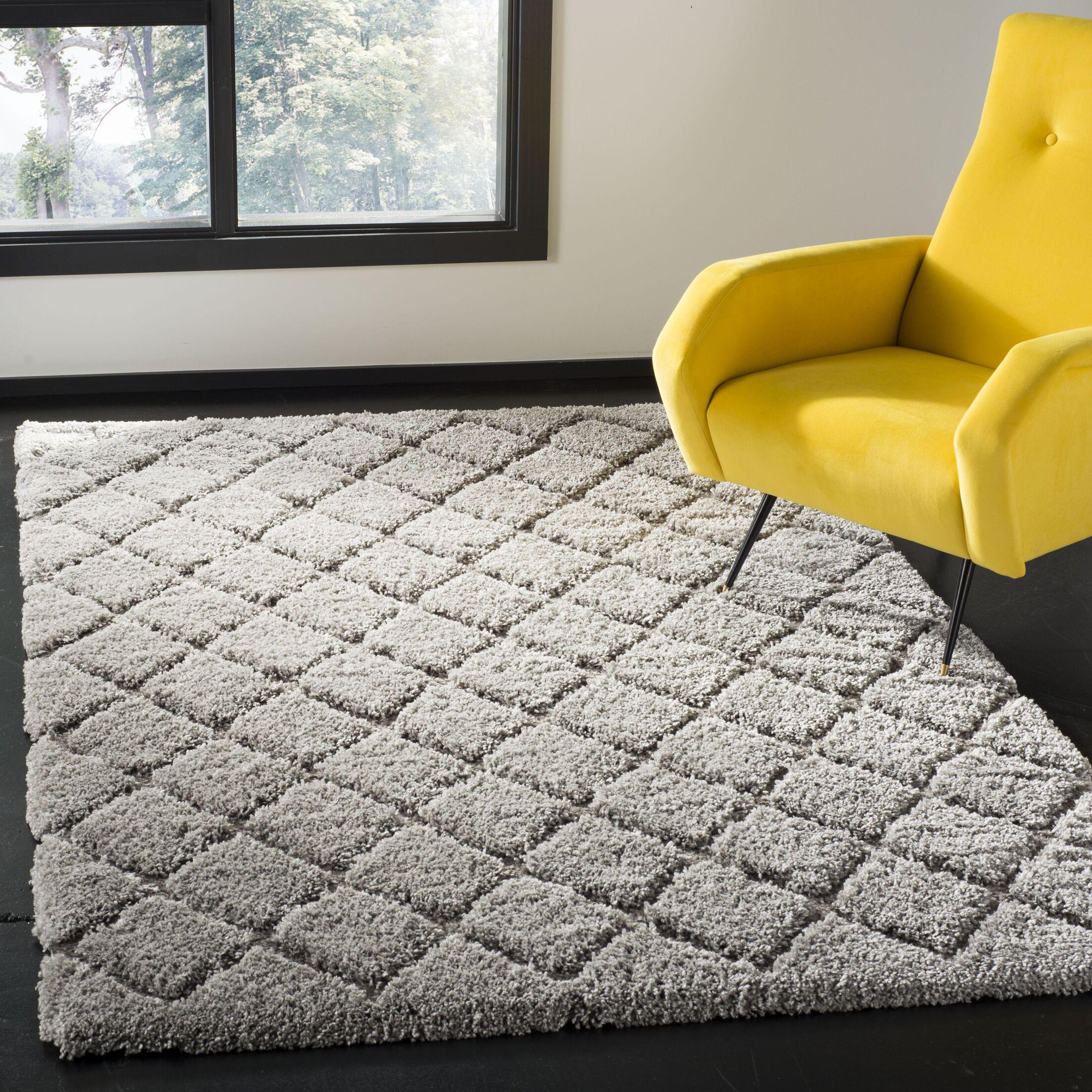 Felten Light Gray Area Rug Rug Size: Rectangle 8' x 10'