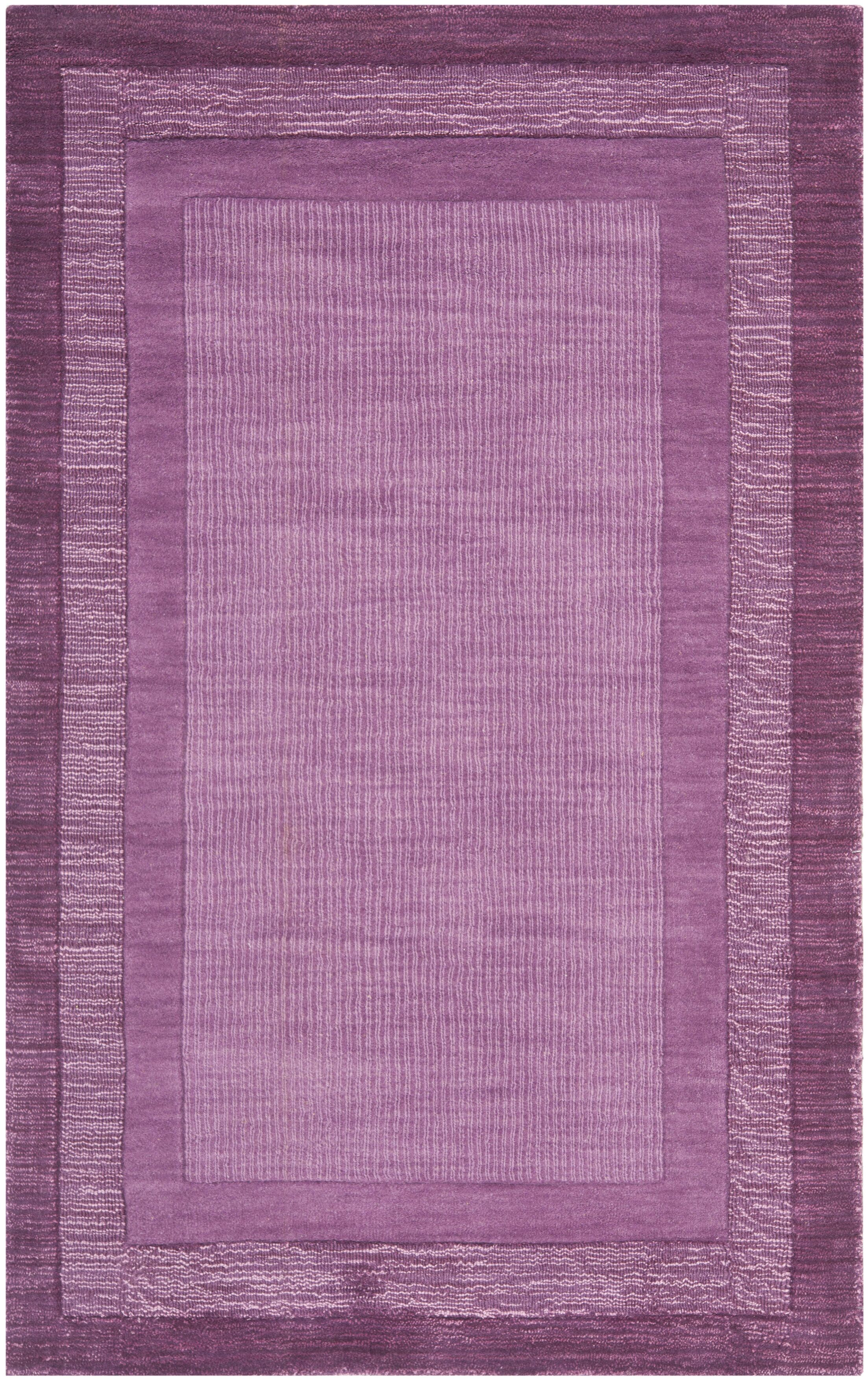 Scanlan Purple Area Rug Rug Size: Rectangle 4' x 6'