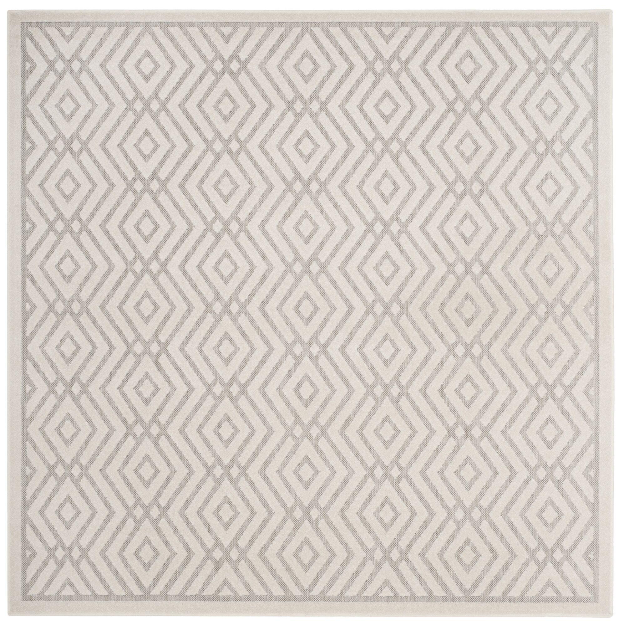 Cabana Light Gray/Cream Indoor/Outdoor Area Rug Rug Size: Square 6'7