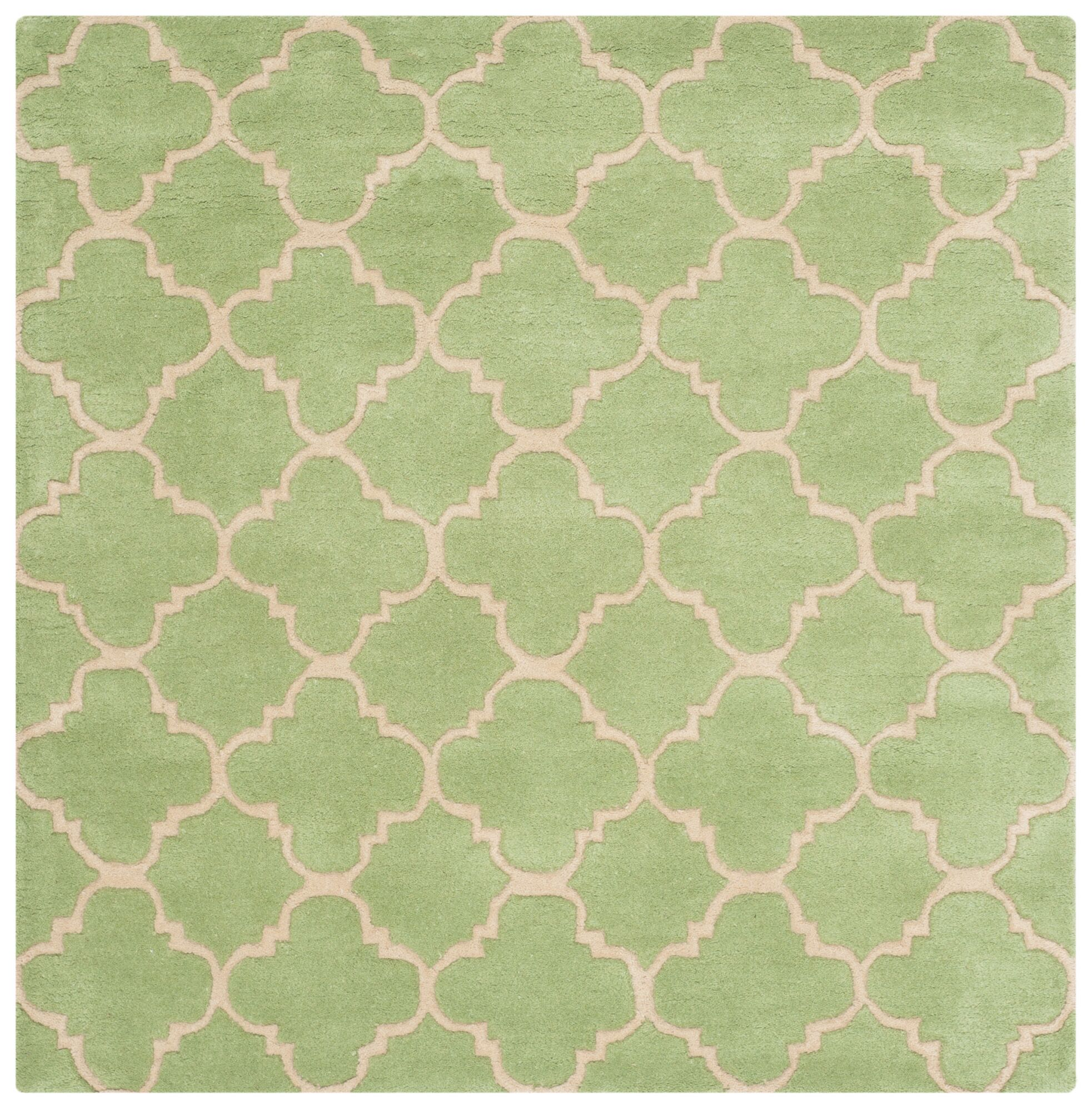 Wilkin Green Area Rug Rug Size: Square 4'
