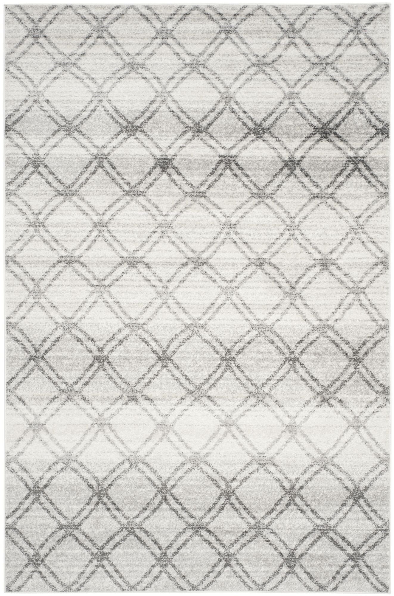 Neuman Silver/Charcoal Area Rug Rug Size: Rectangle 6' x 9'