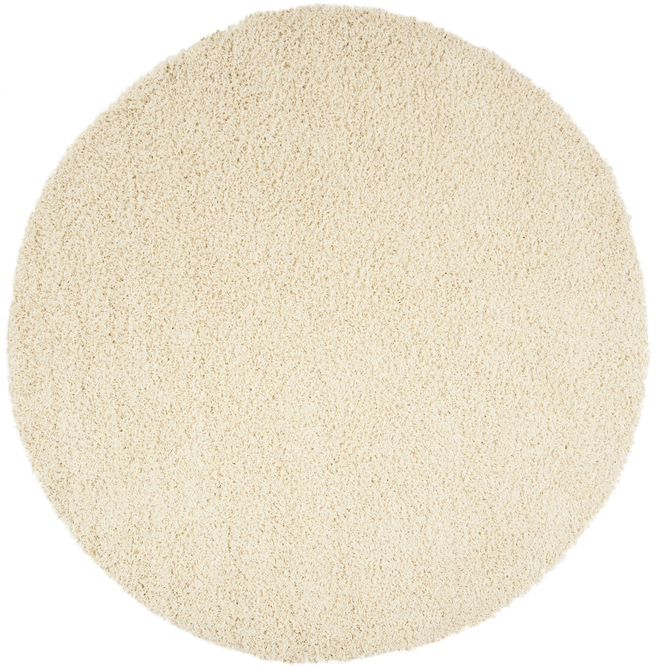 Fornax Shag Ivory Area Rug Rug Size: Round 6'7