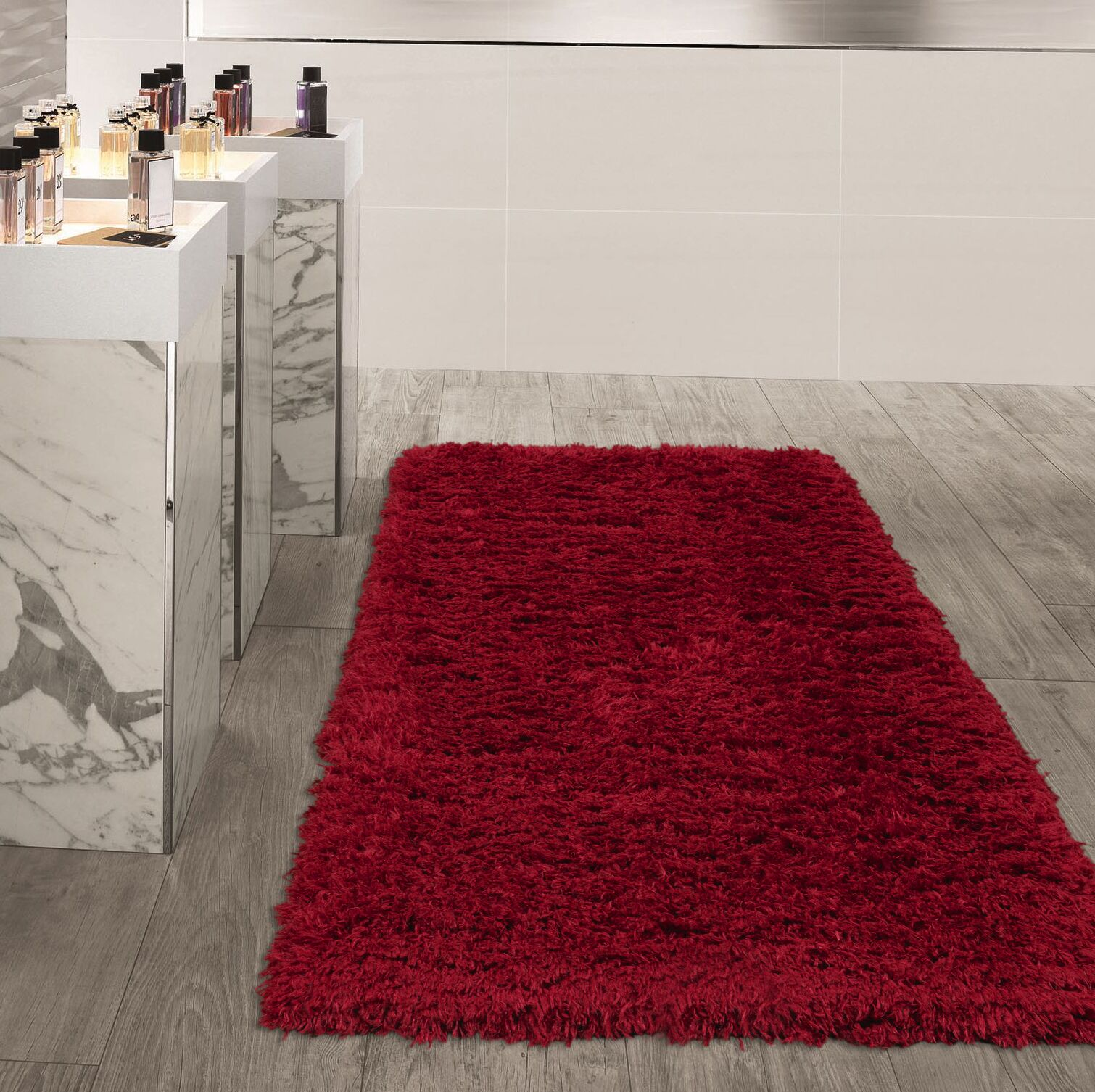 Costantino Soft High Pile Red Area Rug Rug Size: Rectangle 6'7
