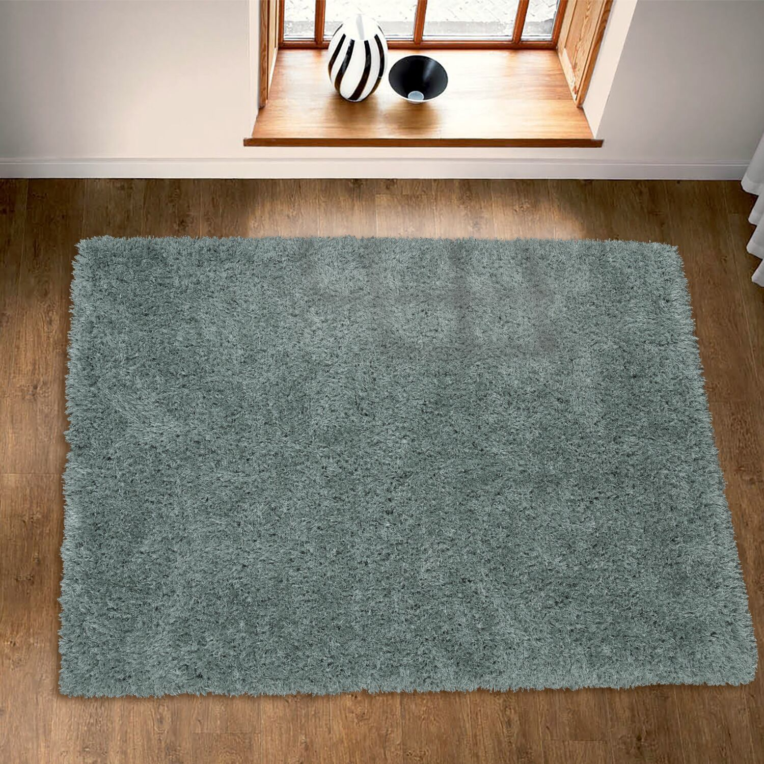 Costantino Fuzzy High Pile Sage Green Area Rug Rug Size: Rectangle 5'3