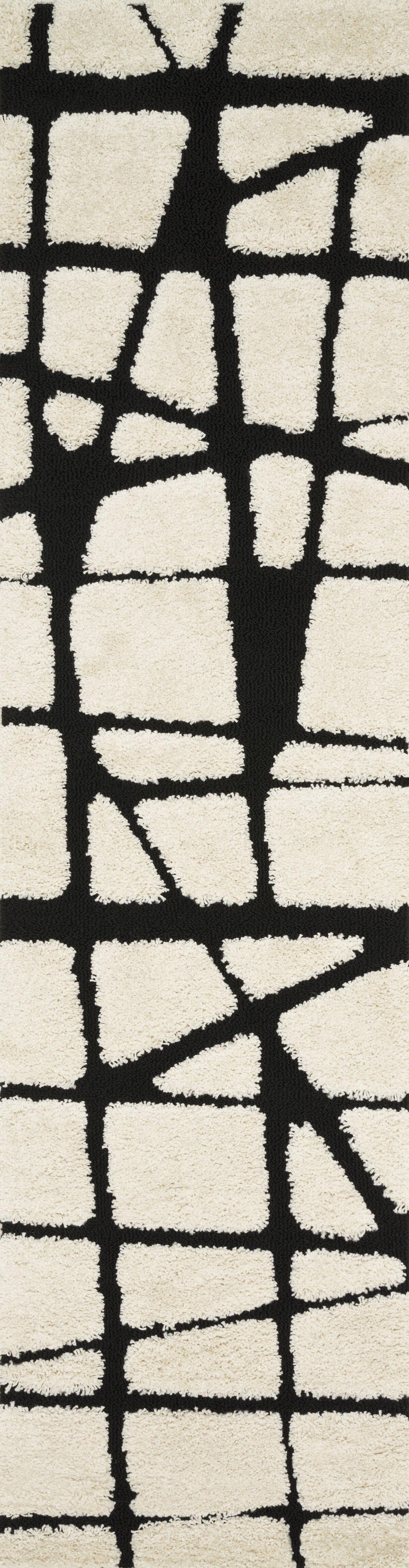 Bigham Cream/Black Area Rug Rug Size: Runner 2'3