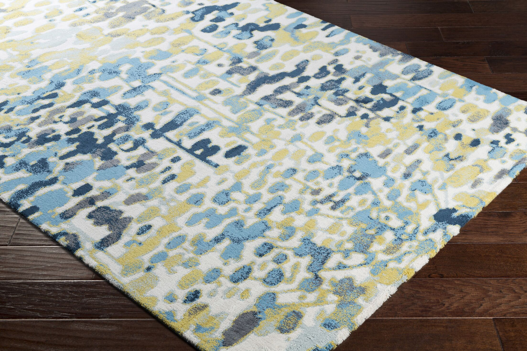 Ladson Yellow/Blue Area Rug Rug Size: Rectangle 5'3