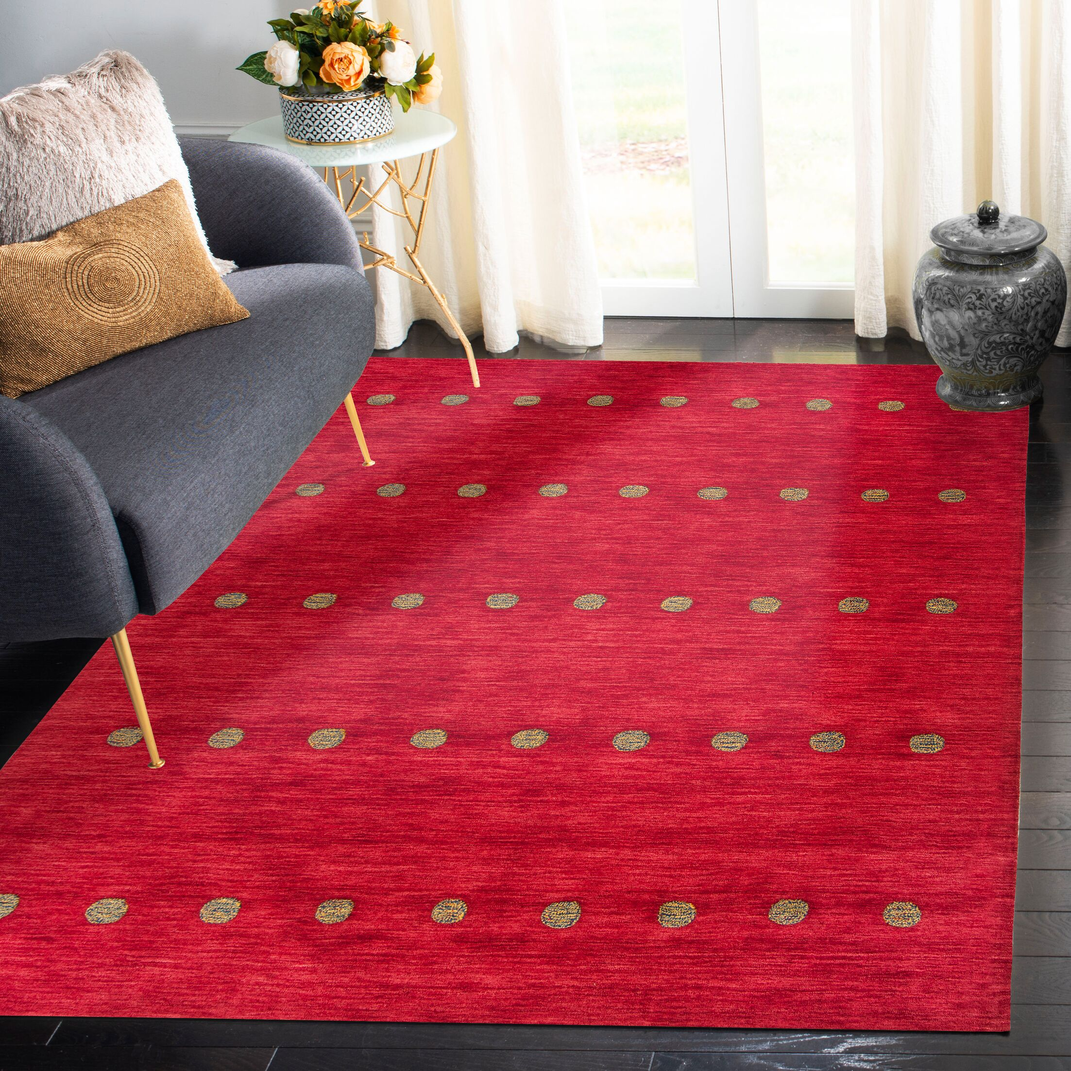 Pixley Hand-Woven Wool Red Area Rug Rug Size: Runner 2'3