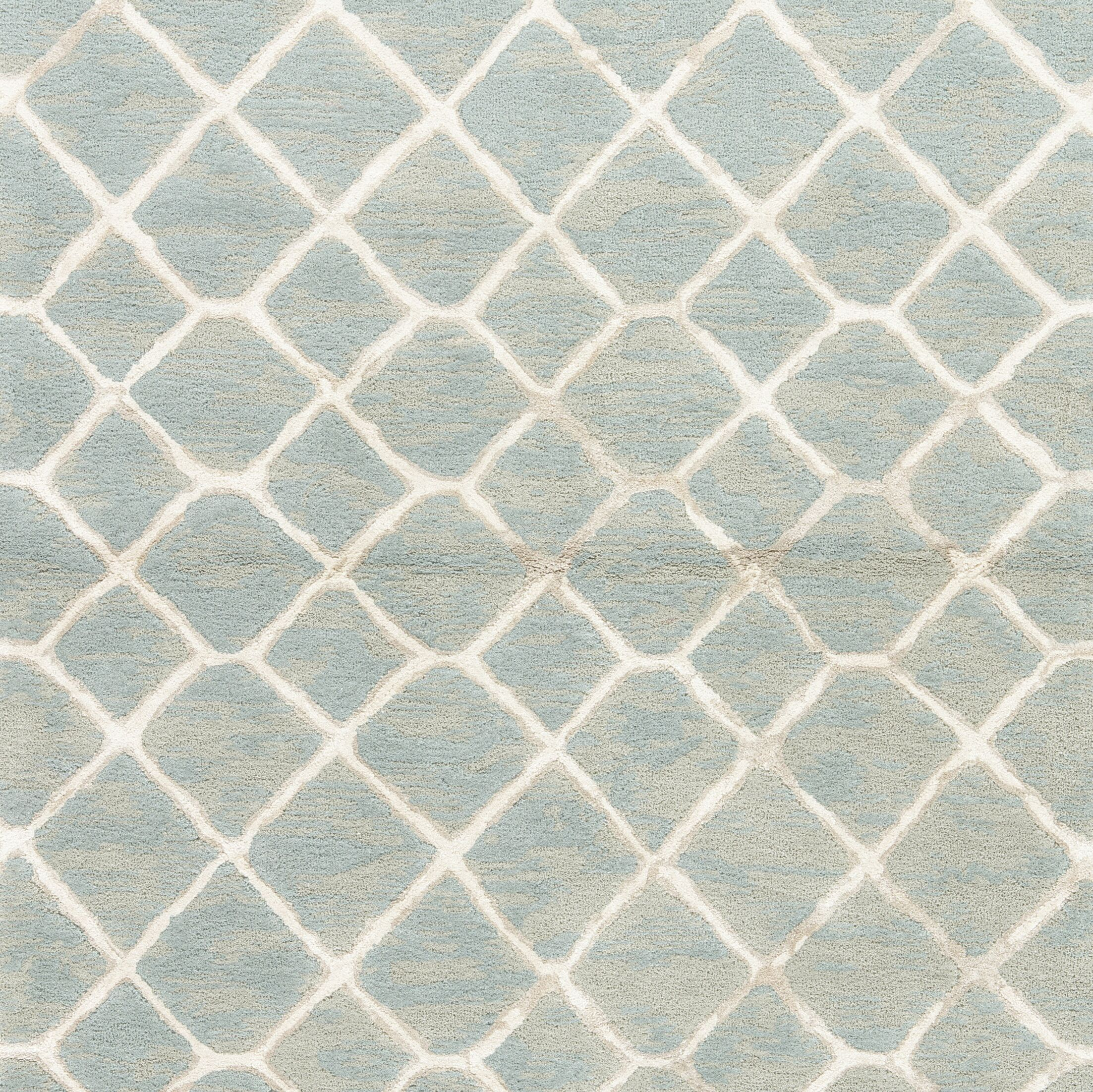 Heldt Hand-Tufted Blue/Cream/Tan Area Rug Rug Size: Rectangle 5' x 8'