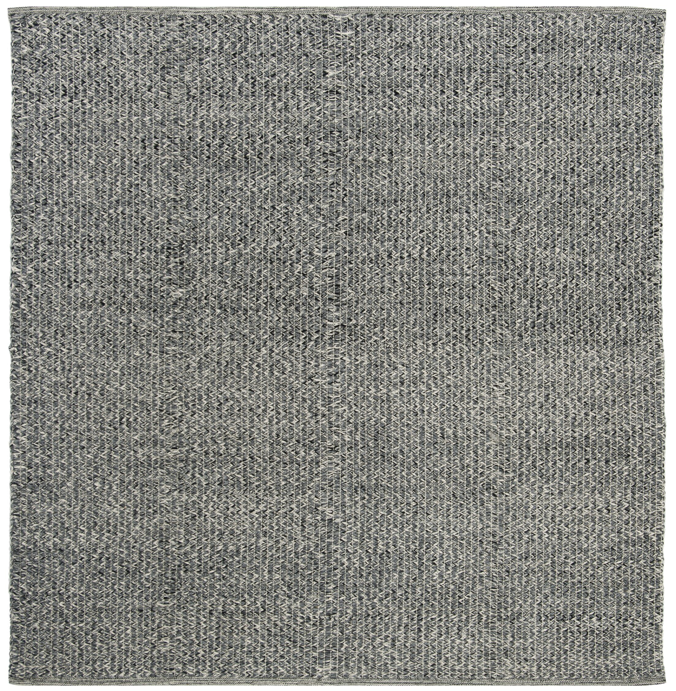 Shevchenko Place Hand-Woven Black/Gray Area Rug Rug Size: Square 6'