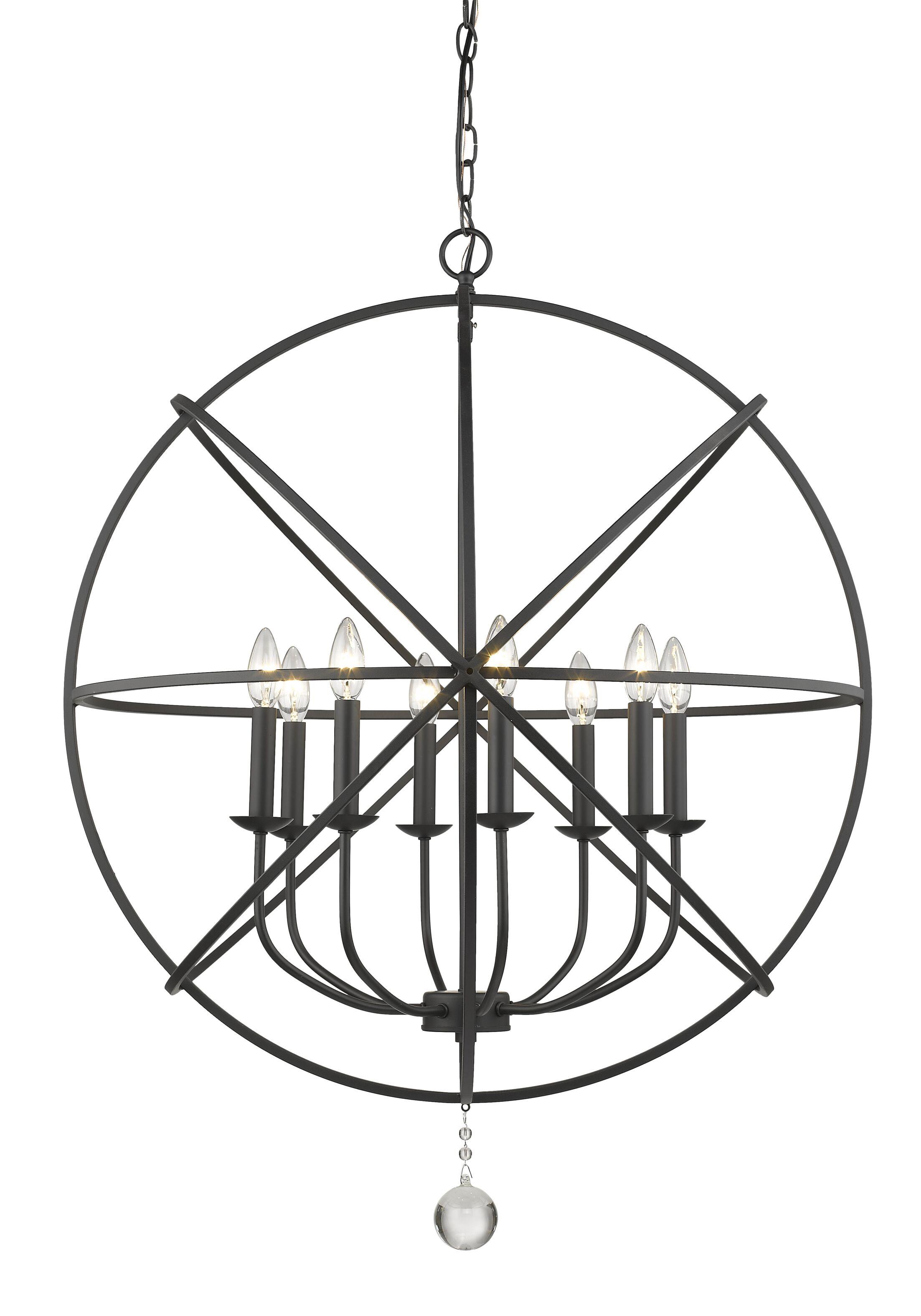 Mortimer 8-Light Globe Chandelier Finish: Matte Black