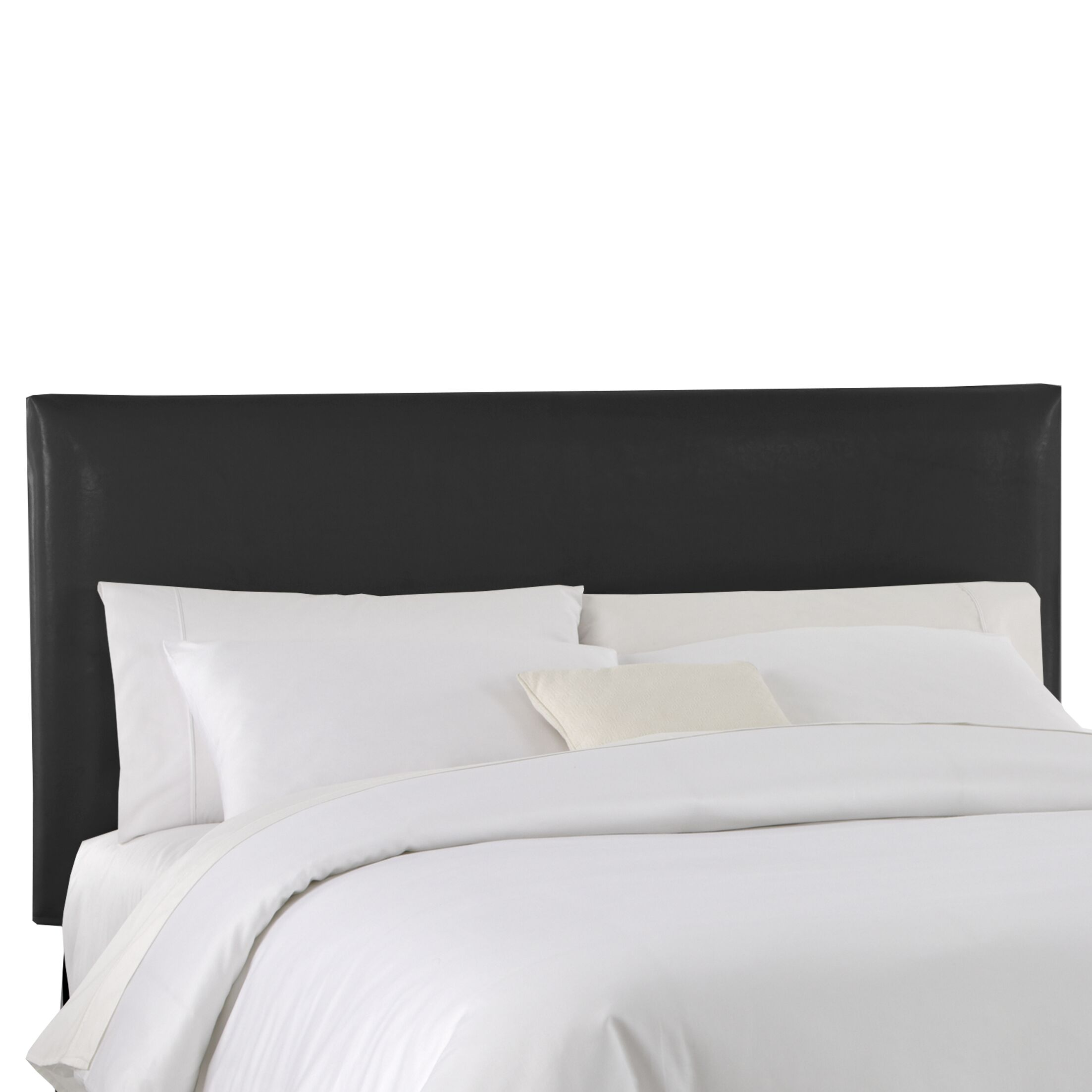 Classico Slipcover Upholstered Panel Headboard Color: Black, Size: King