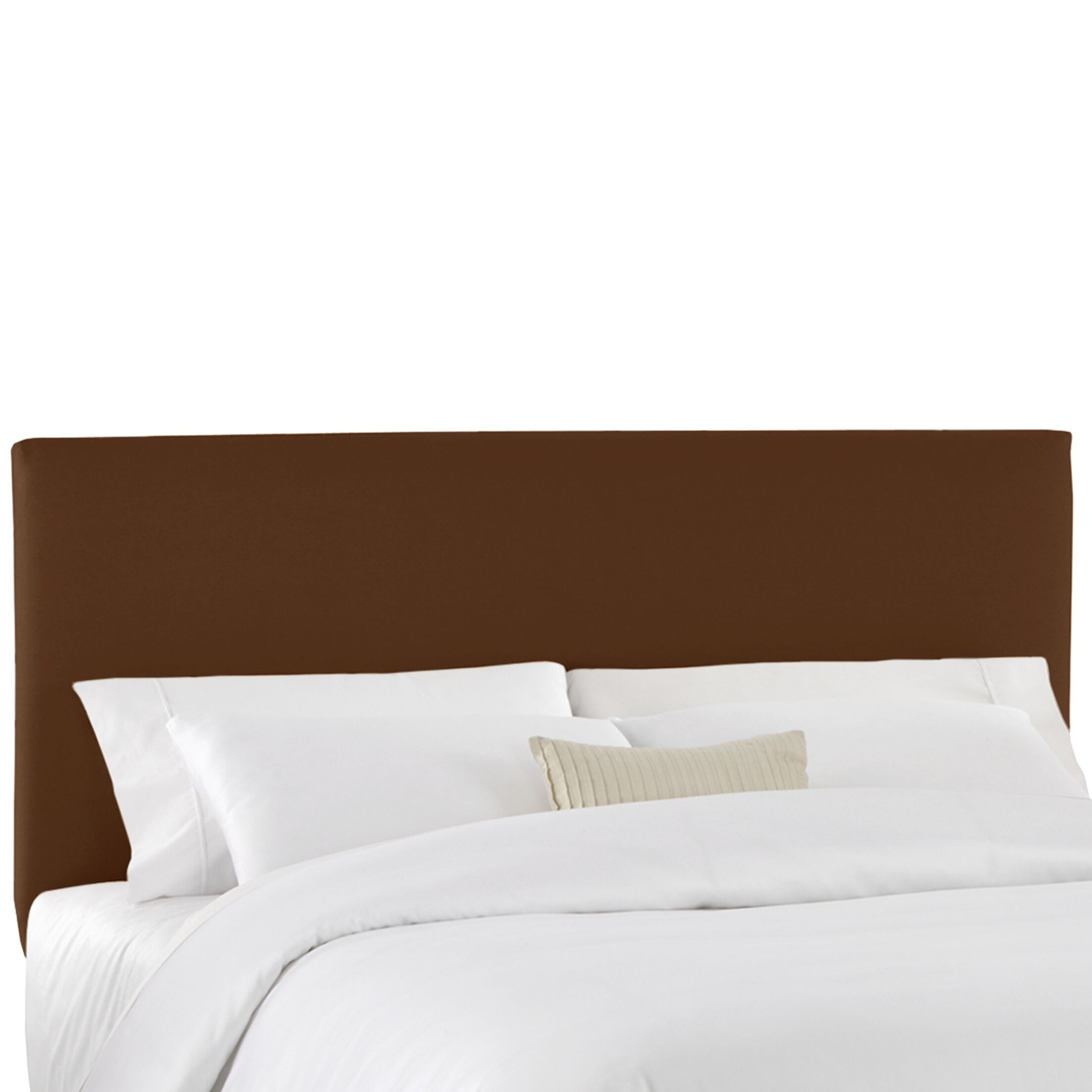 Duck Slipcover Upholstered Panel Headboard Size: Twin, Color: Chocolate
