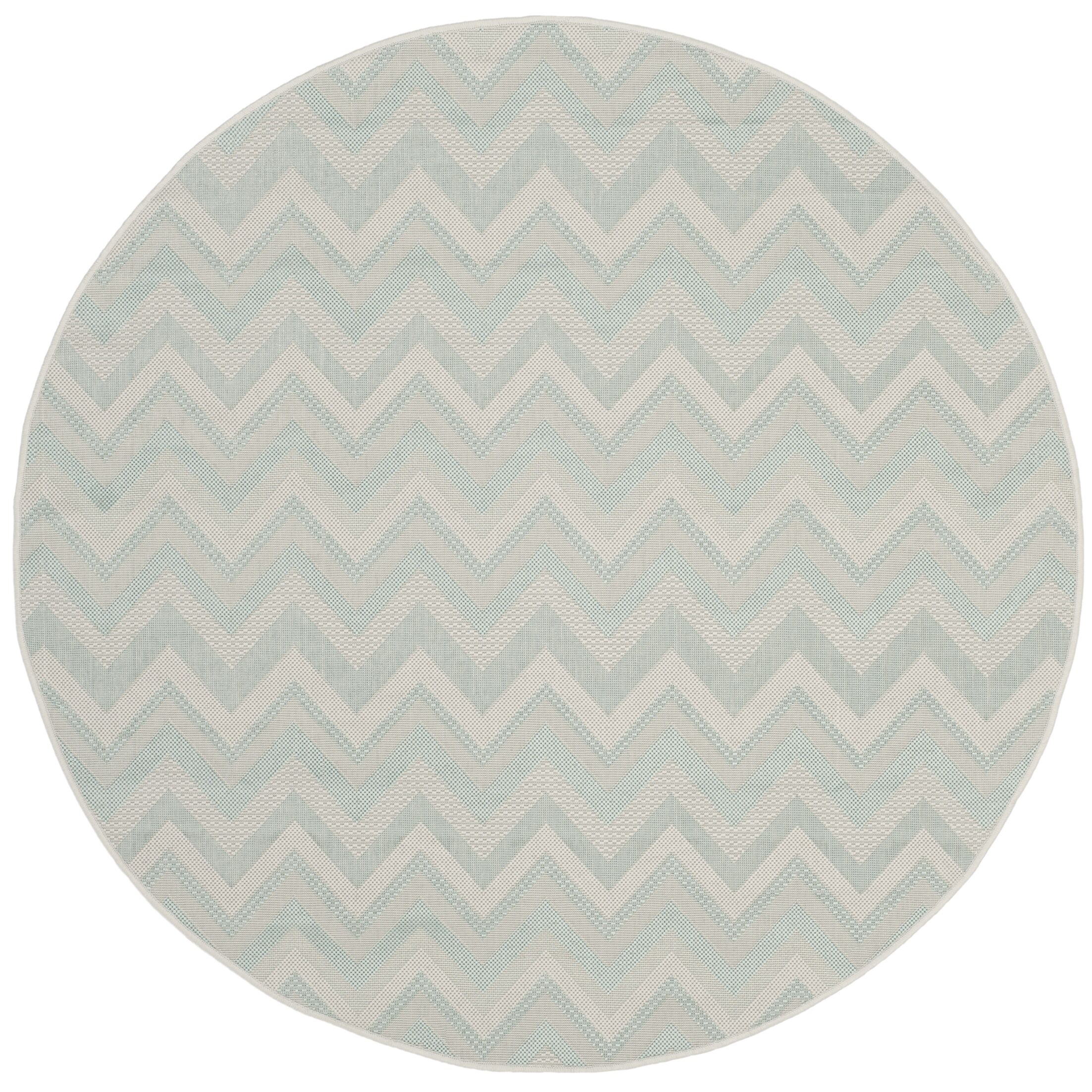 Mcguffin Light Gray/Aqua Indoor/Outdoor Area Rug Rug Size: Rectangle 6'7