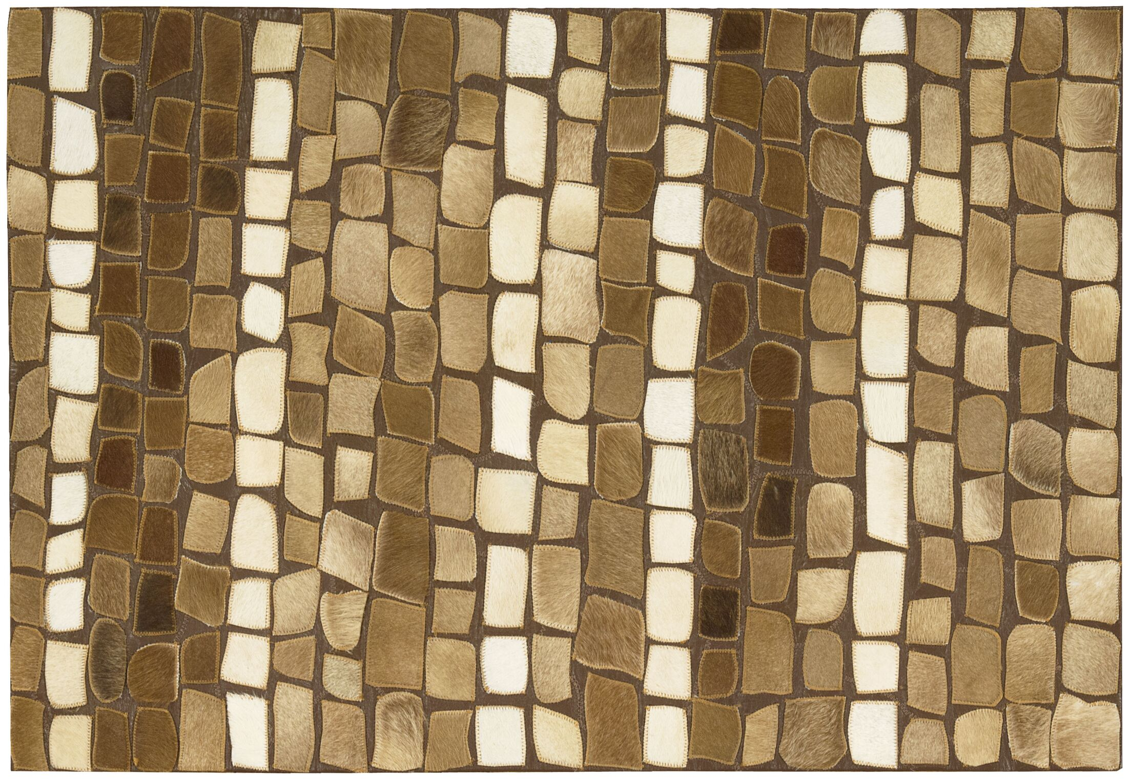 Natural Leather Hide Area Rug