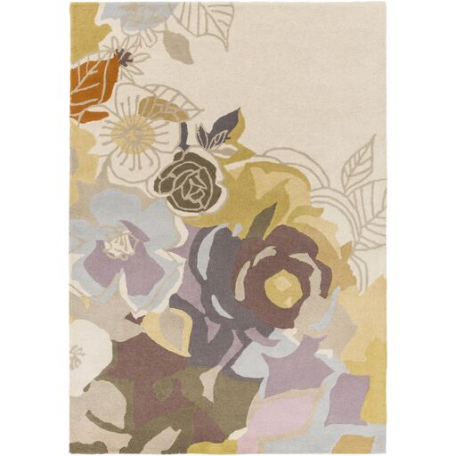 Meads Lavender/Mauve Area Rug Rug Size: Rectangle 5' x 8'