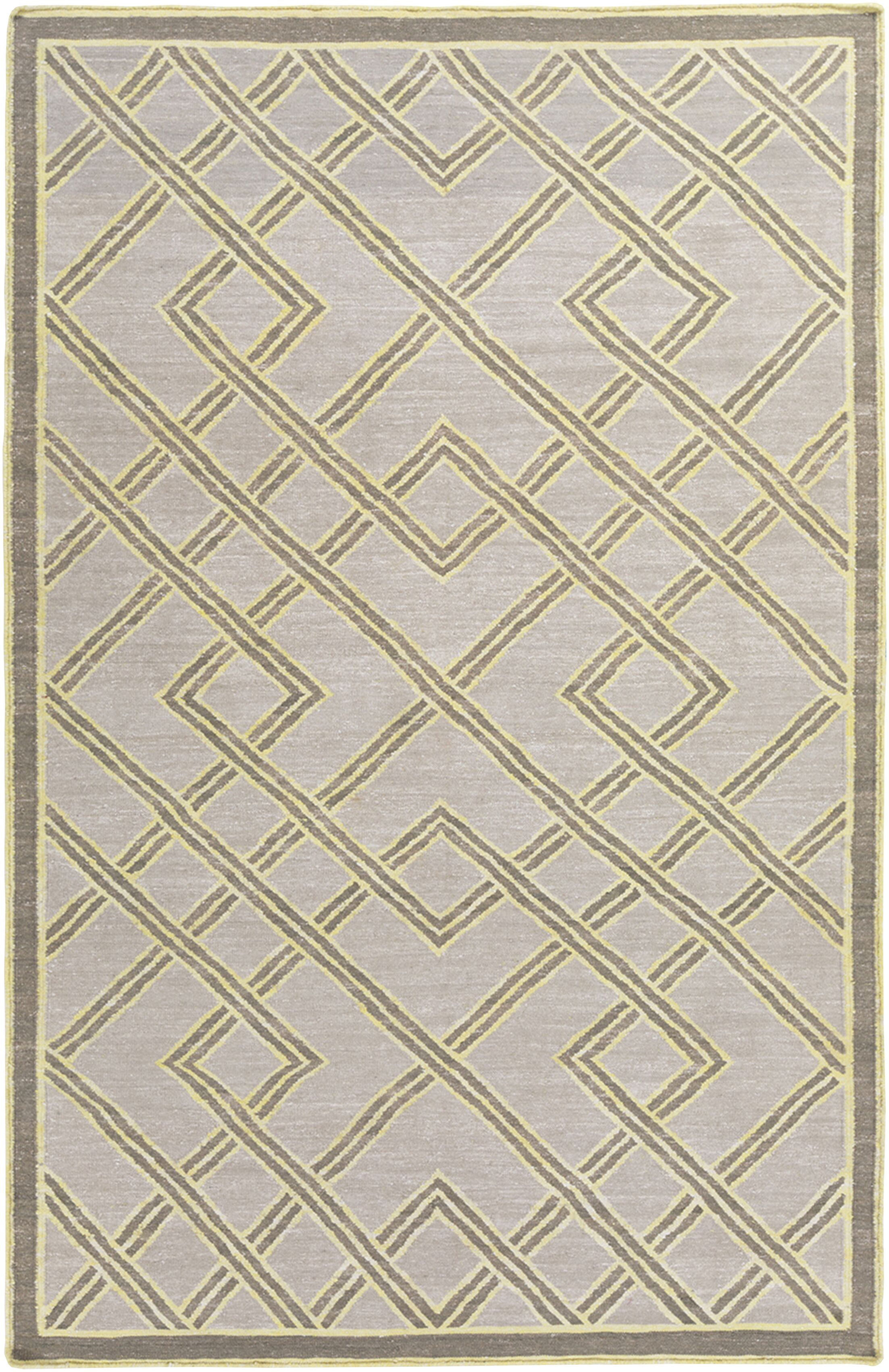 Mare Hand Woven Gray Area Rug Rug Size: Rectangle 2' x 3'