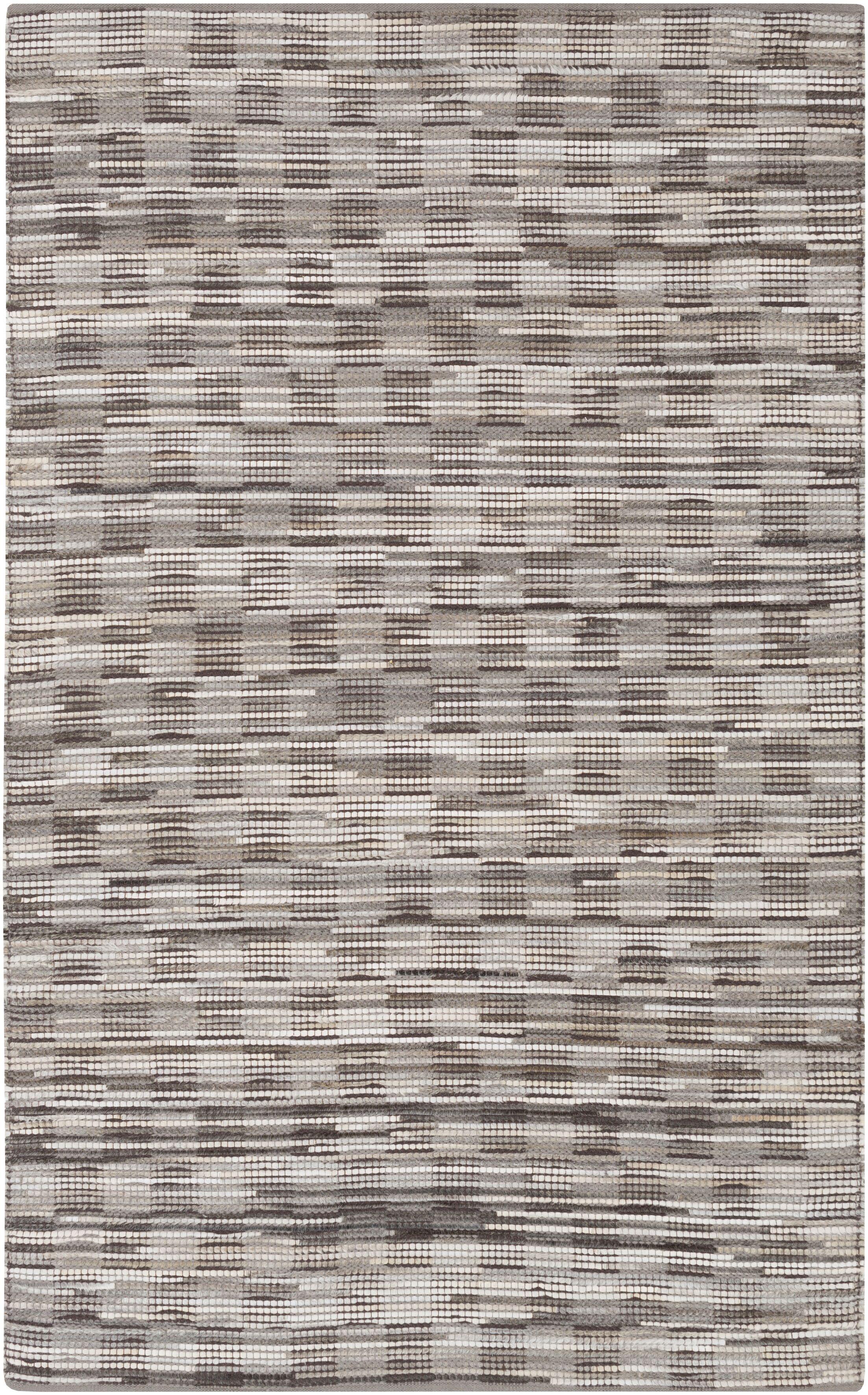 Hand Woven Brown/Gray Area Rug Rug Size: Rectangle 8' x 10'
