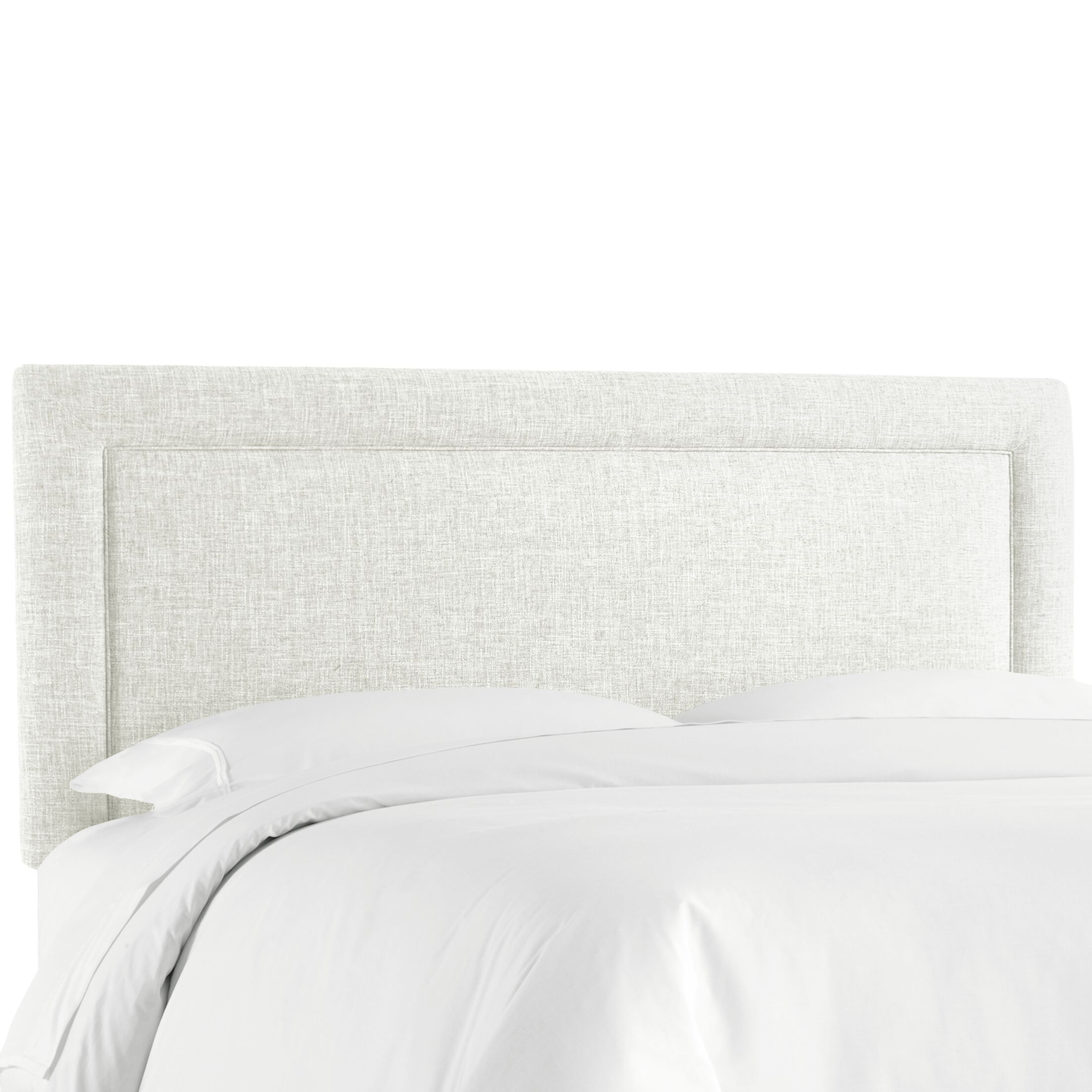 Cansler Border Upholstered Panel Headboard Size: Twin, Upholstery: Off-White