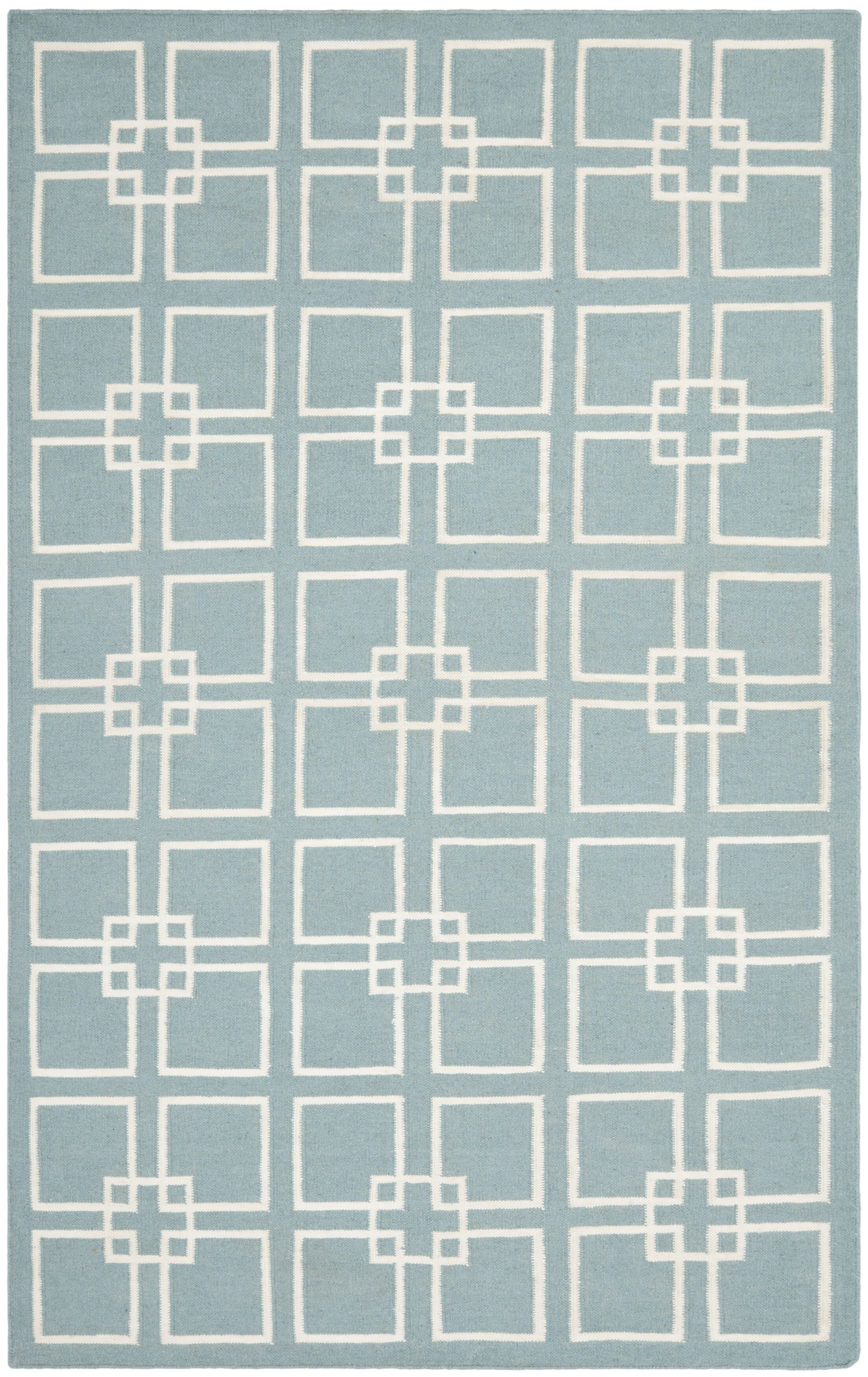 Square Dance Geyser Blue Area Rug Rug Size: Rectangle 5' x 8'
