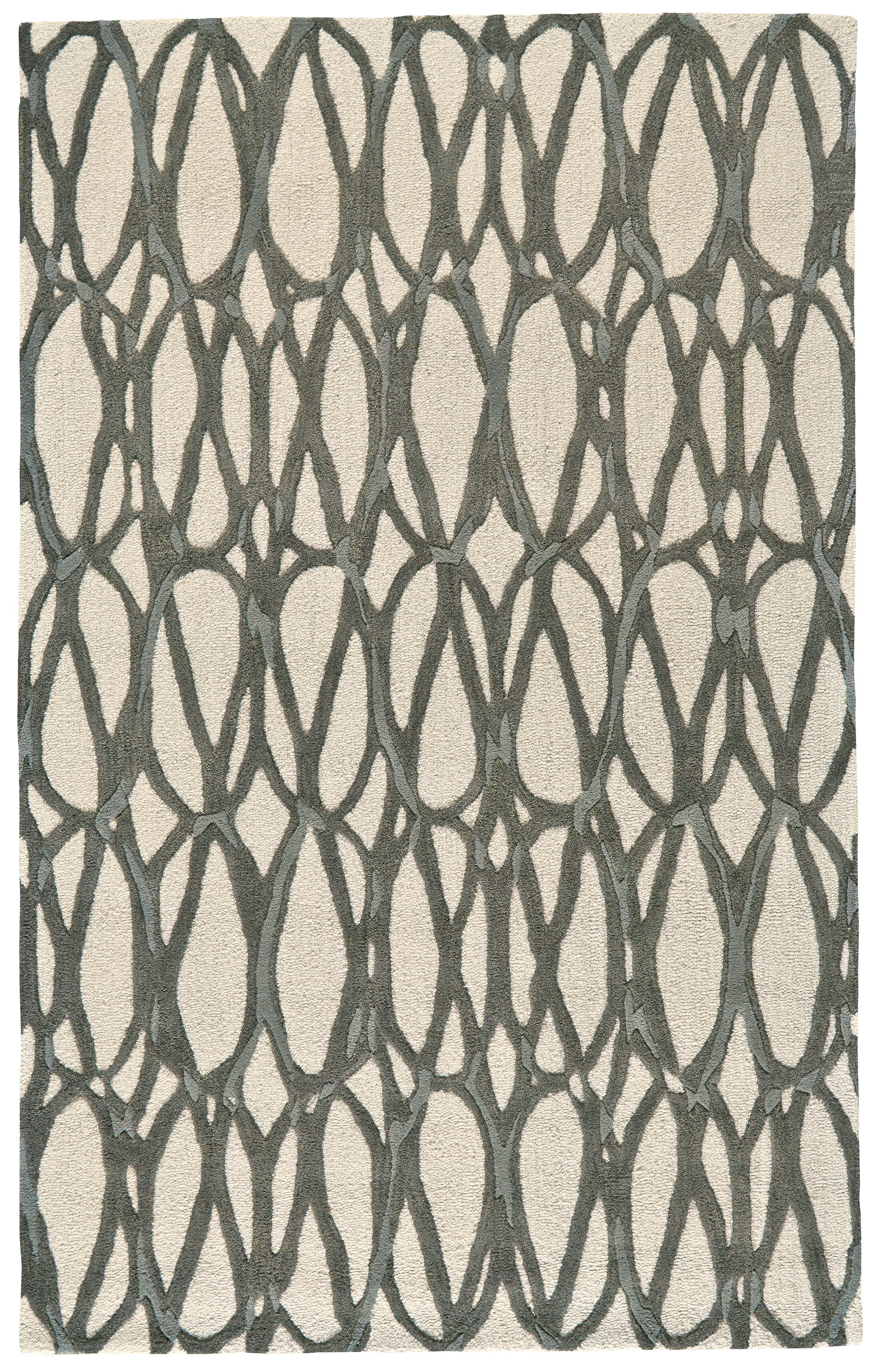 Blacke Hand-Tufted Titanium Area Rug Rug Size: Rectangle 5' x 8'