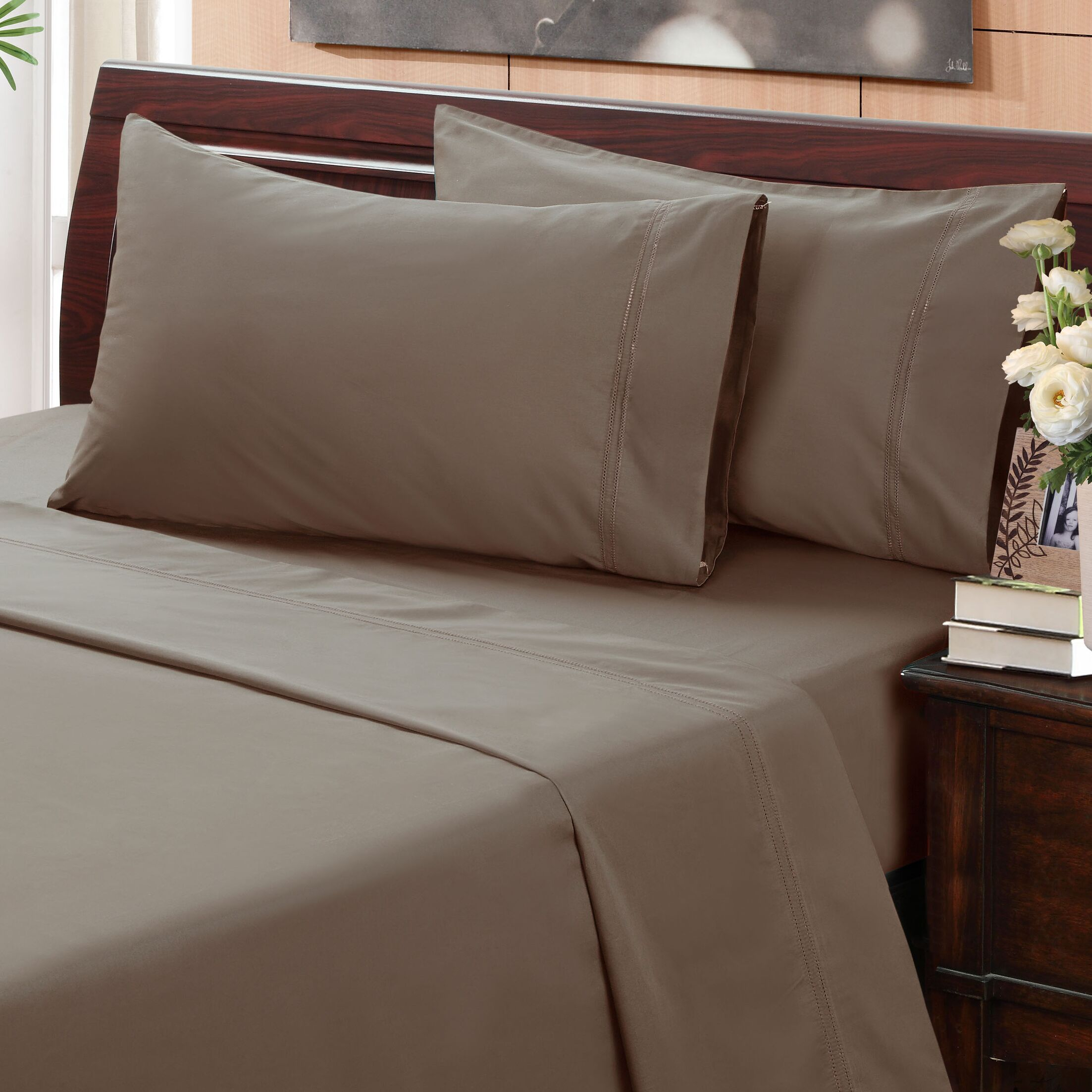Myricks 500 Thread Count 100% Cotton Sheet Set Size: King, Color: Ivory