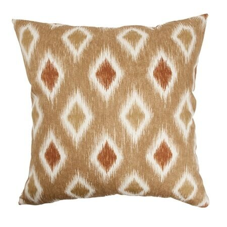 Haber Diamond Cotton Throw Pillow Color: Canyon, Size: 20