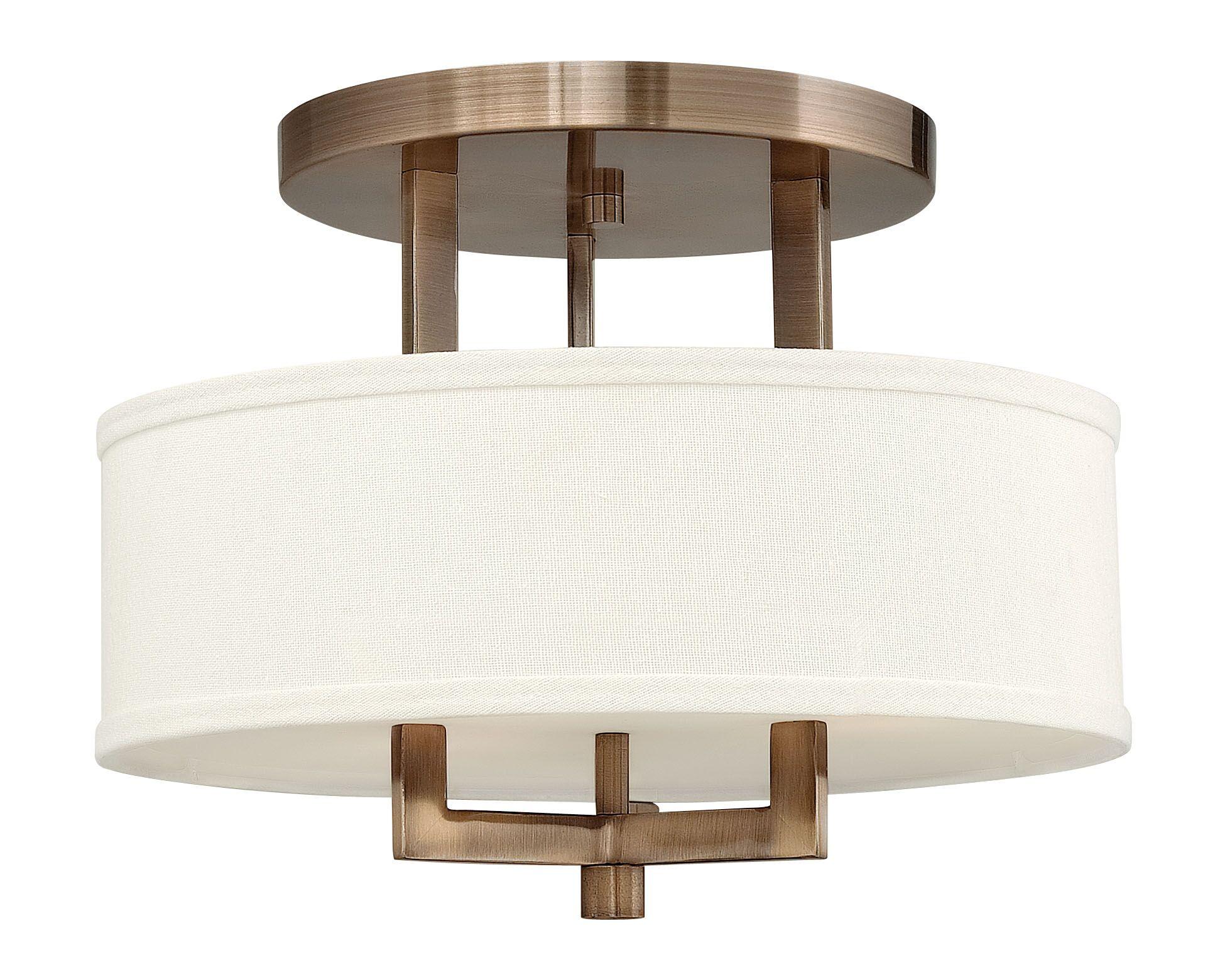 Allenhurst 3-Light Semi Flush Mount Size: 11.75