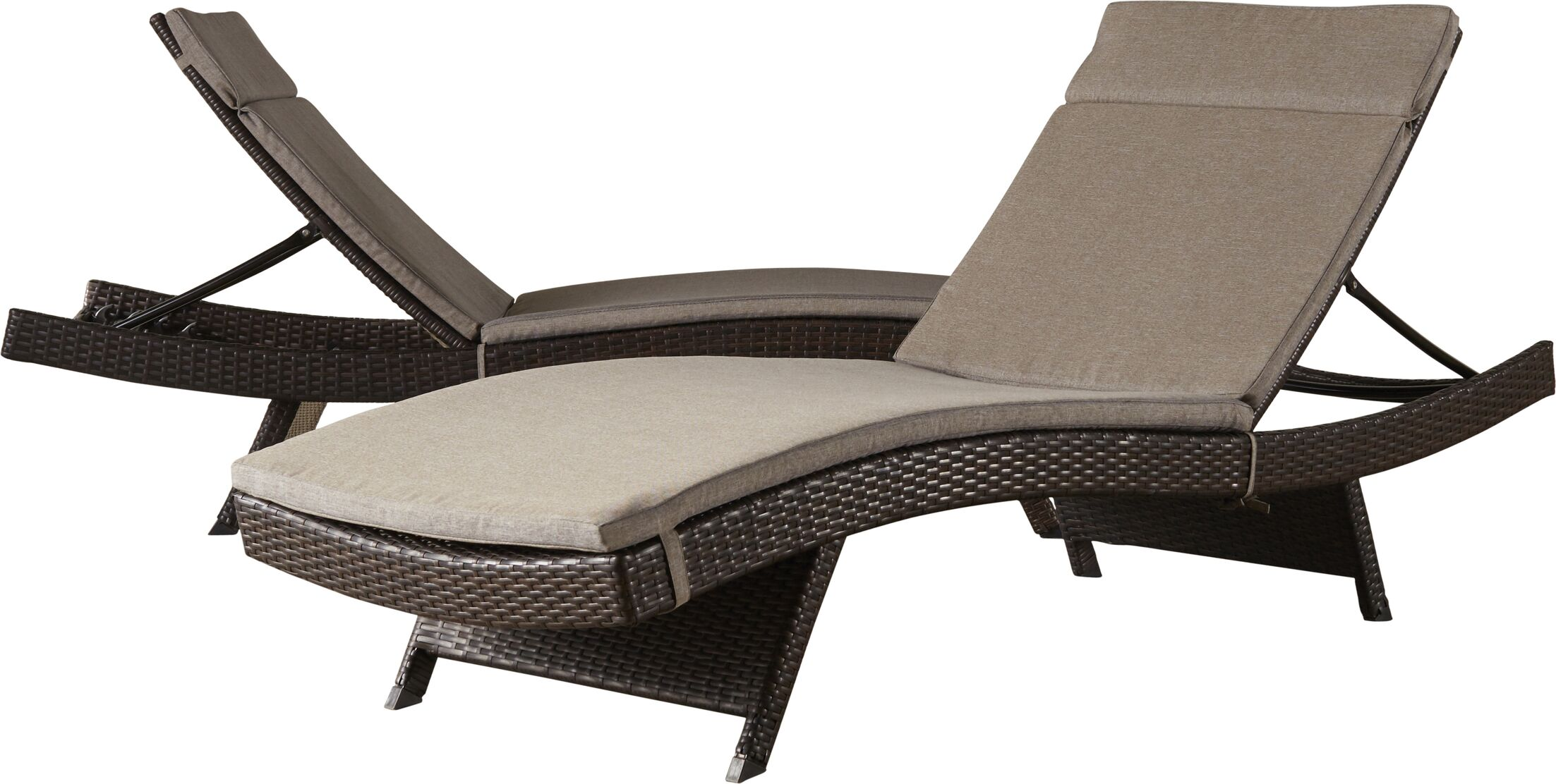 Ferrara Reclining Chaise Lounge with Cushion Color: Charcoal