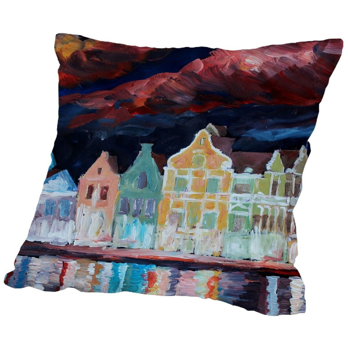 Markus Bleichner Kwon Curacao at Night Throw Pillow Size: 16