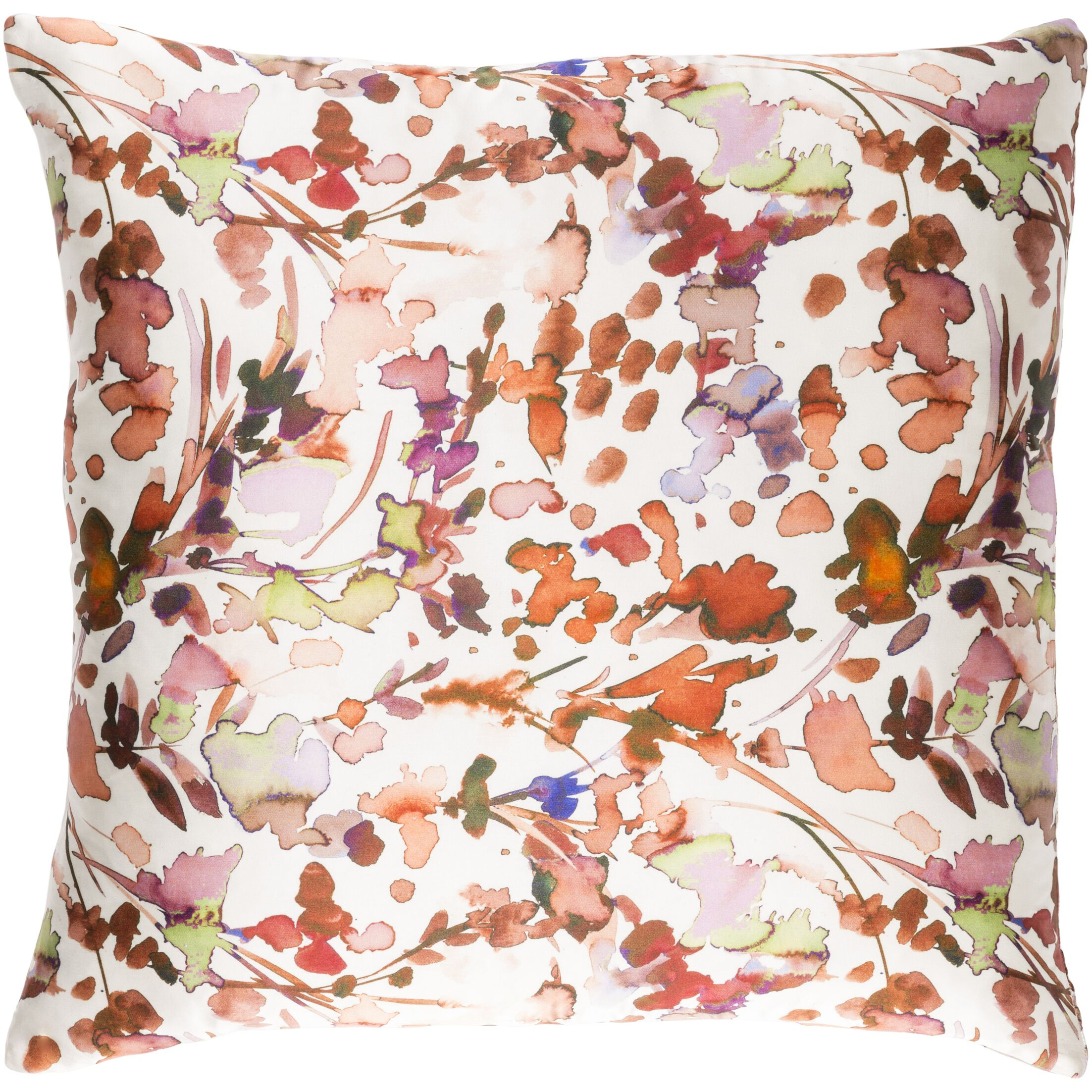Mishler Silk Throw Pillow Size: 22