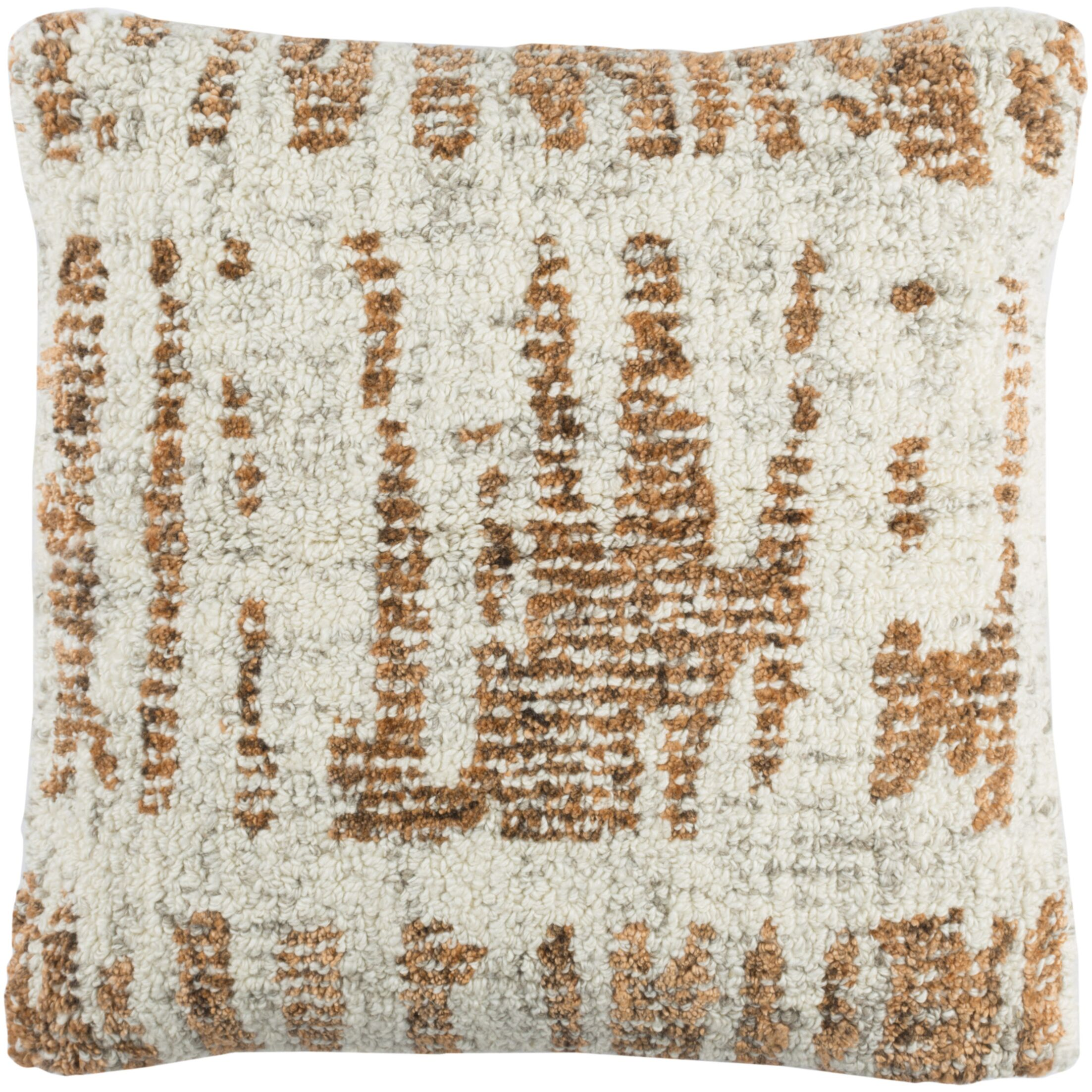 Ferreira Wool Throw Pillow Color: Brown/Gray