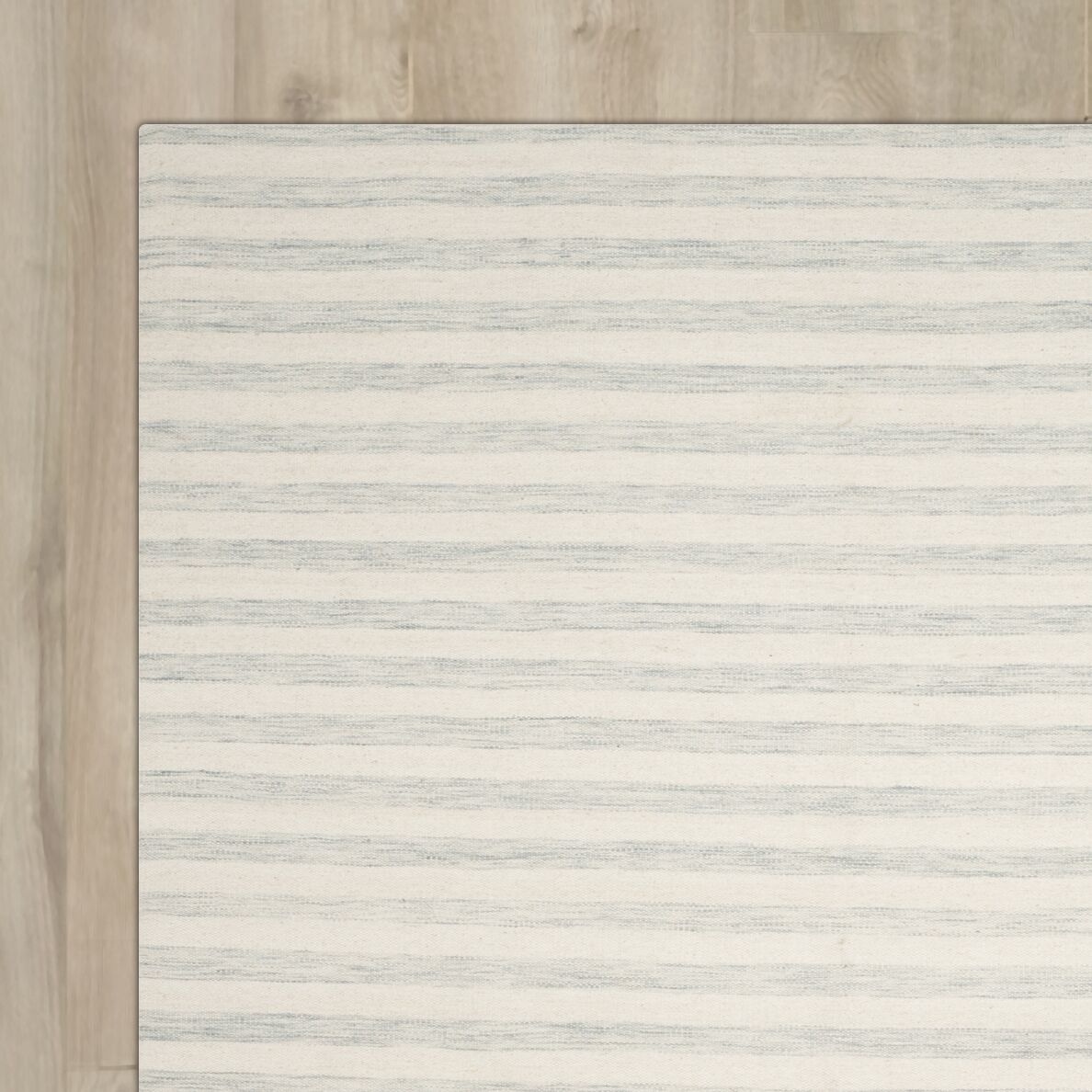 Crawford Hand-Woven Light Blue/Ivory Area Rug Rug Size: Rectangle 8' x 10'