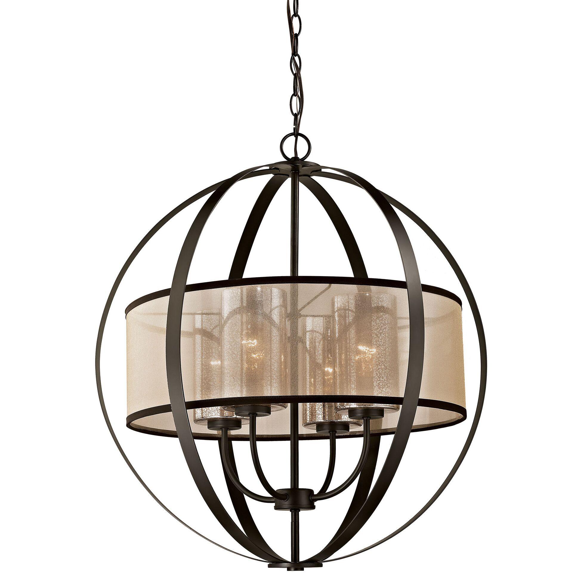 Dailey 4-Light Globe Chandelier Bulb Type: 9.5W LED