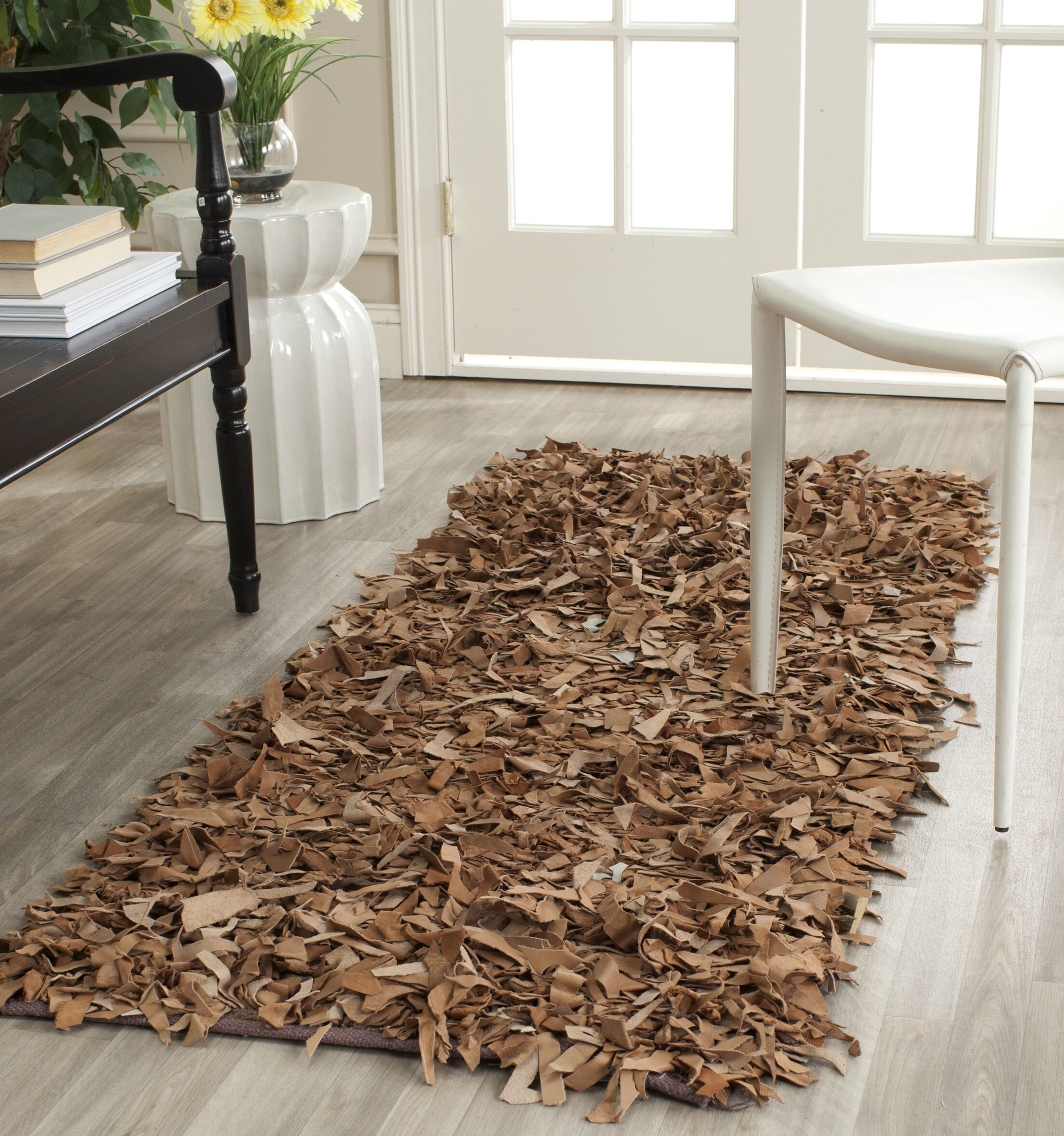Eveland Brown Area Rug Rug Size: Rectangle 8' x 10'
