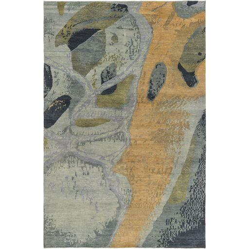 Milstead Sea Foam/Mocha Area Rug Rug Size: Rectangle 6' x 9'