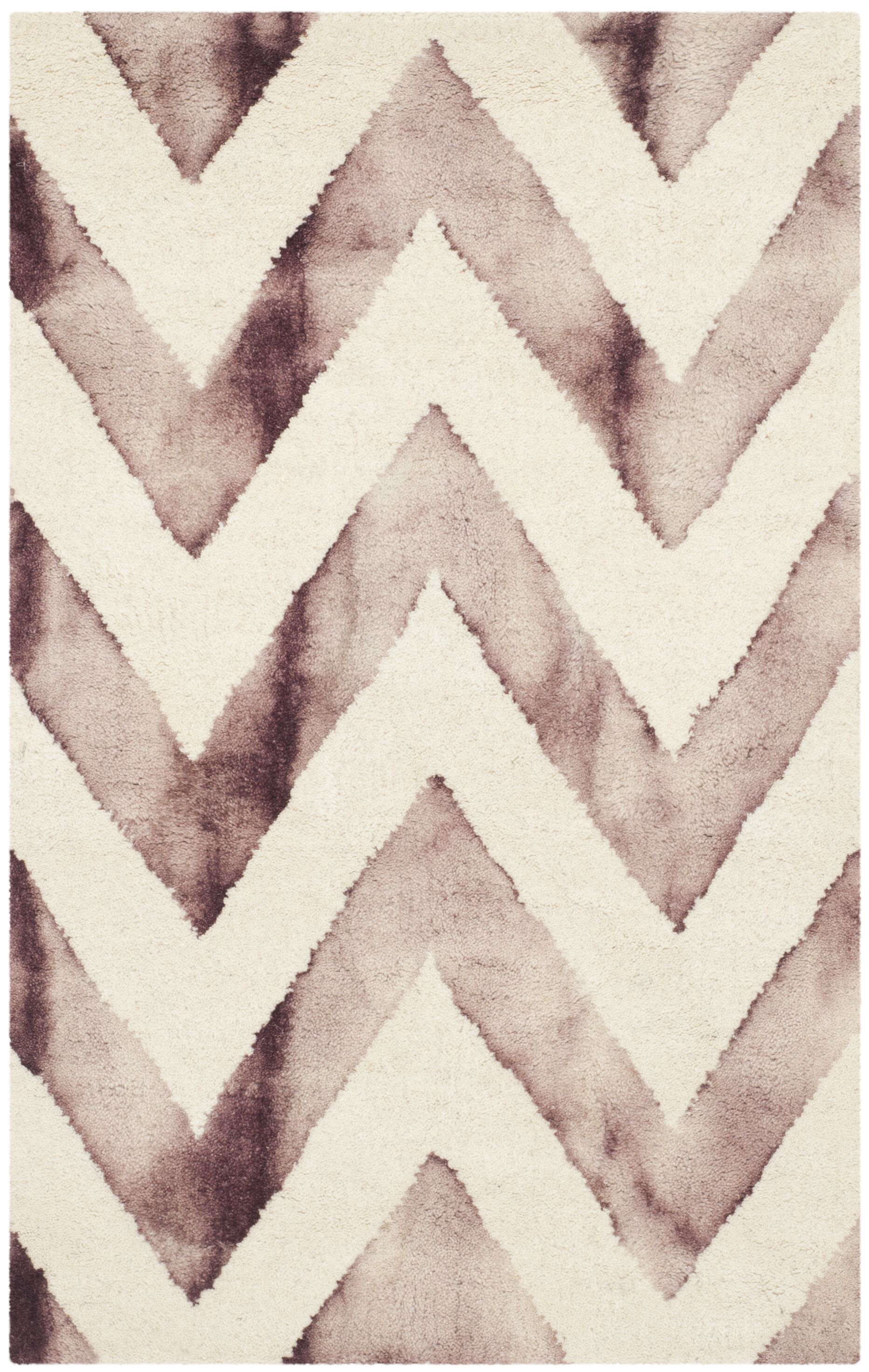 Vandermark Dip Dye Ivory/Maroon Area Rug Rug Size: Rectangle 6' x 9'