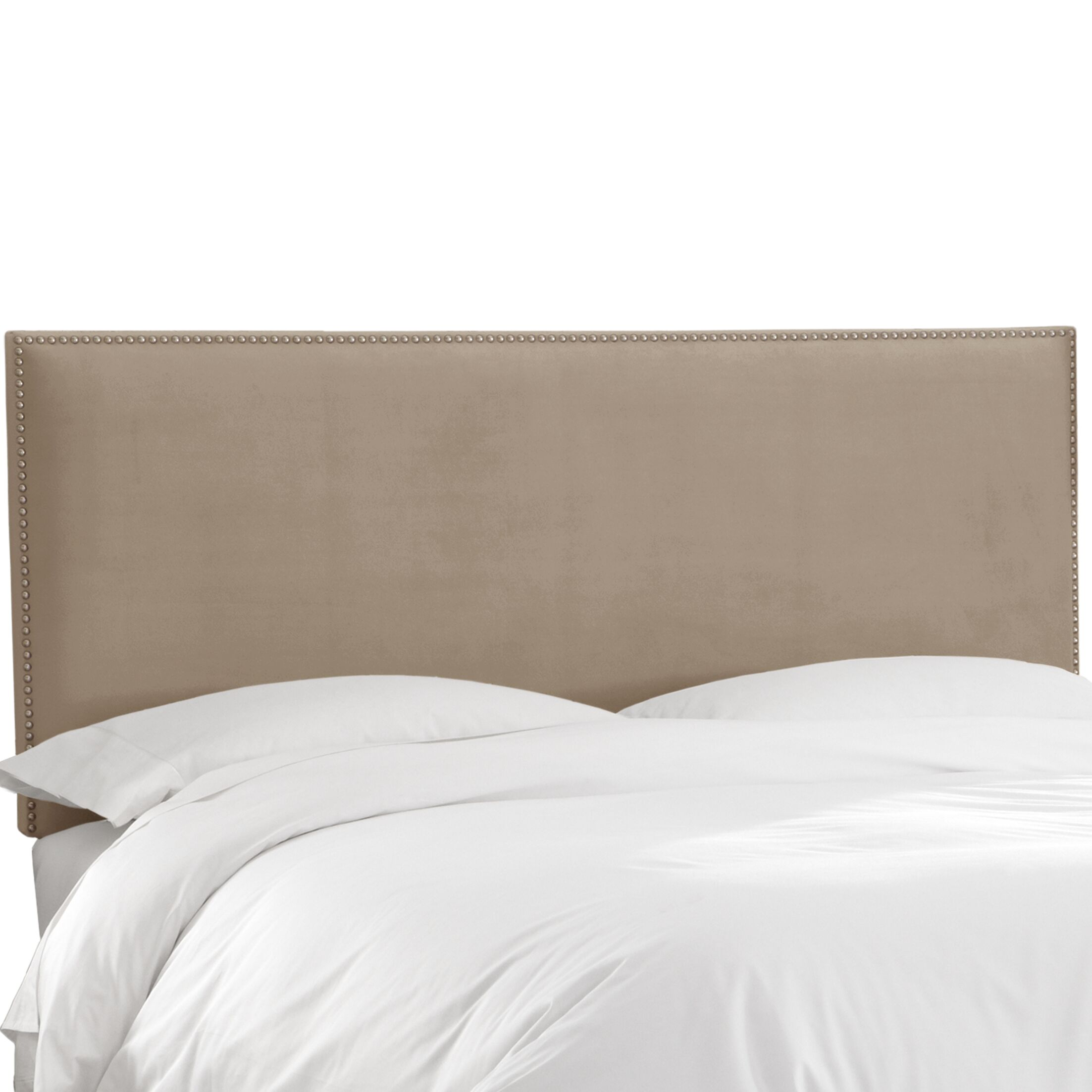 Speight Nail Button Upholstered Panel Headboard Size: Twin, Upholstery: Mystere Mondo