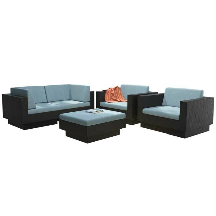 Chretien 5 Piece Sofa Set with Cushions