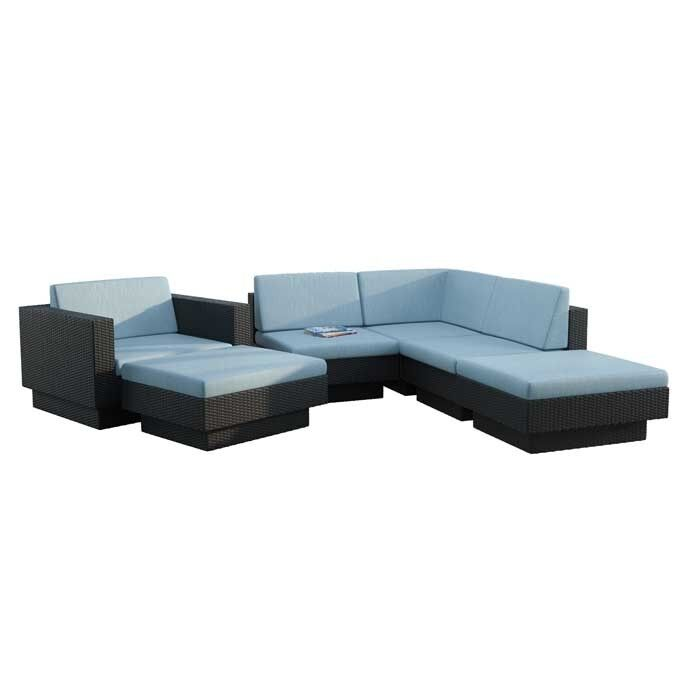 Chretien 6 Piece Sectional Set with Cushions