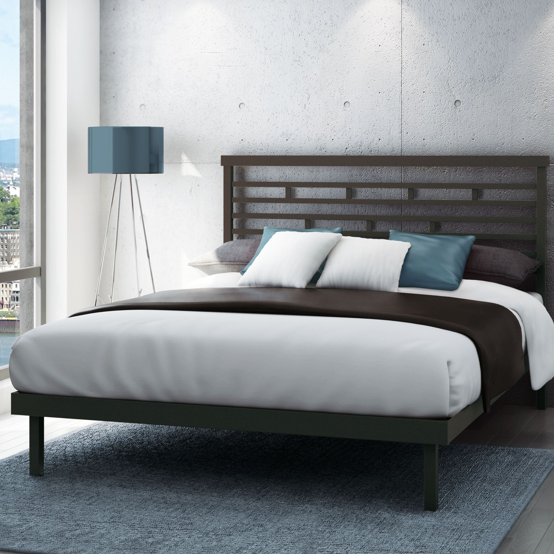 Fobbs Platform Bed Size: Queen, Color: Textured Dark Brown