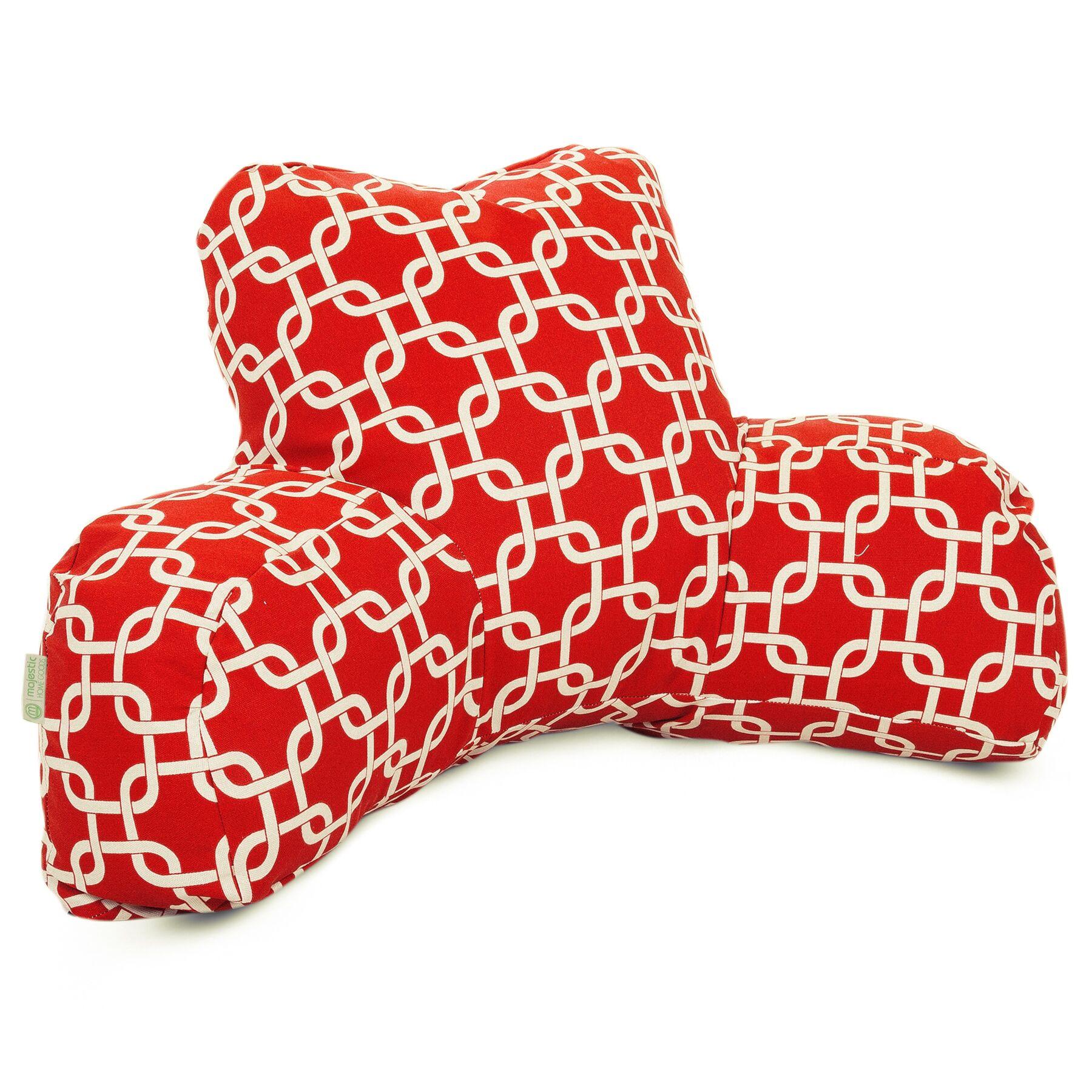 Banas Indoor/Outdoor Bed Rest Pillow Color: Red