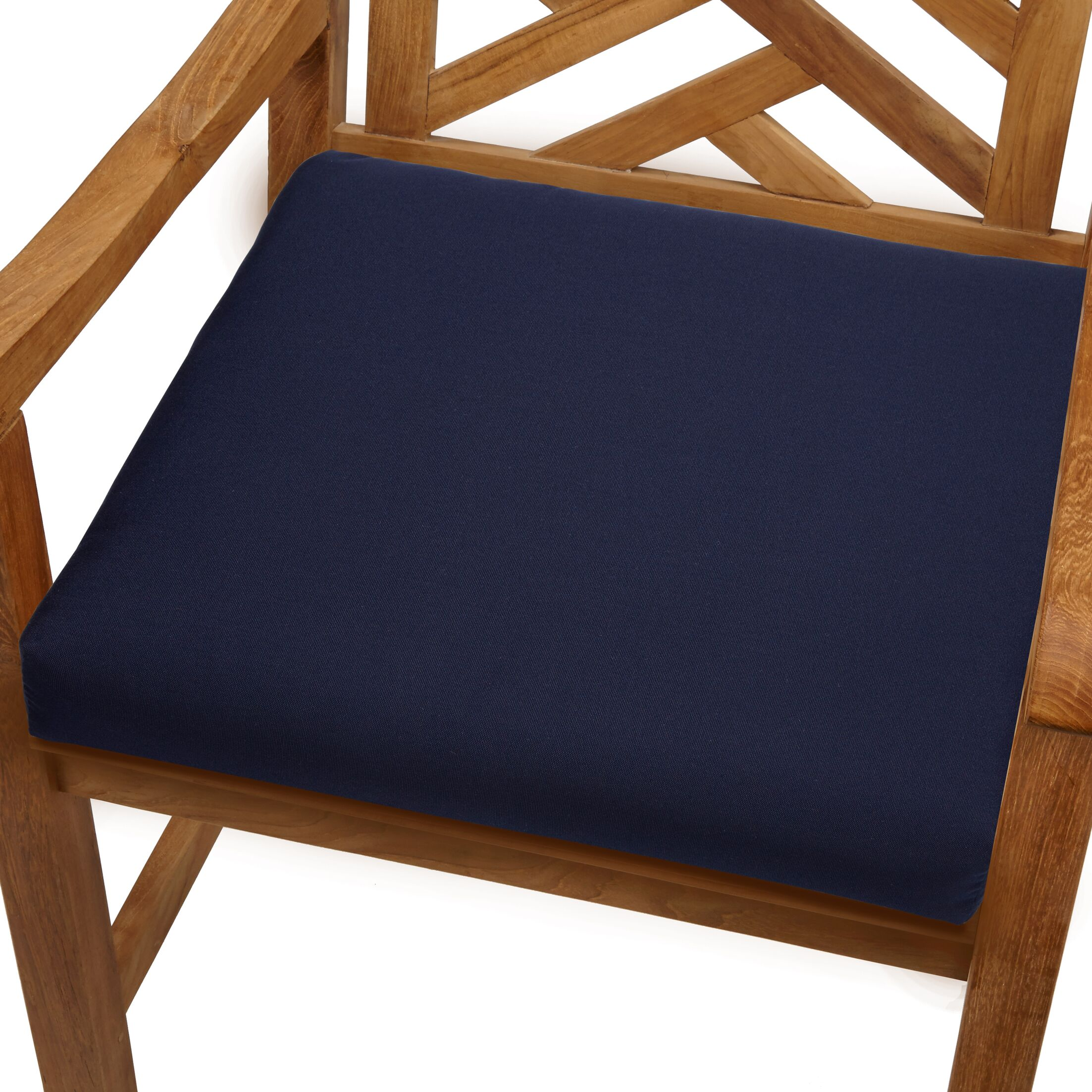 Mcclain Indoor/Outdoor Sunbrella Dining Chair Cushion Fabric: Navy, Size: 20